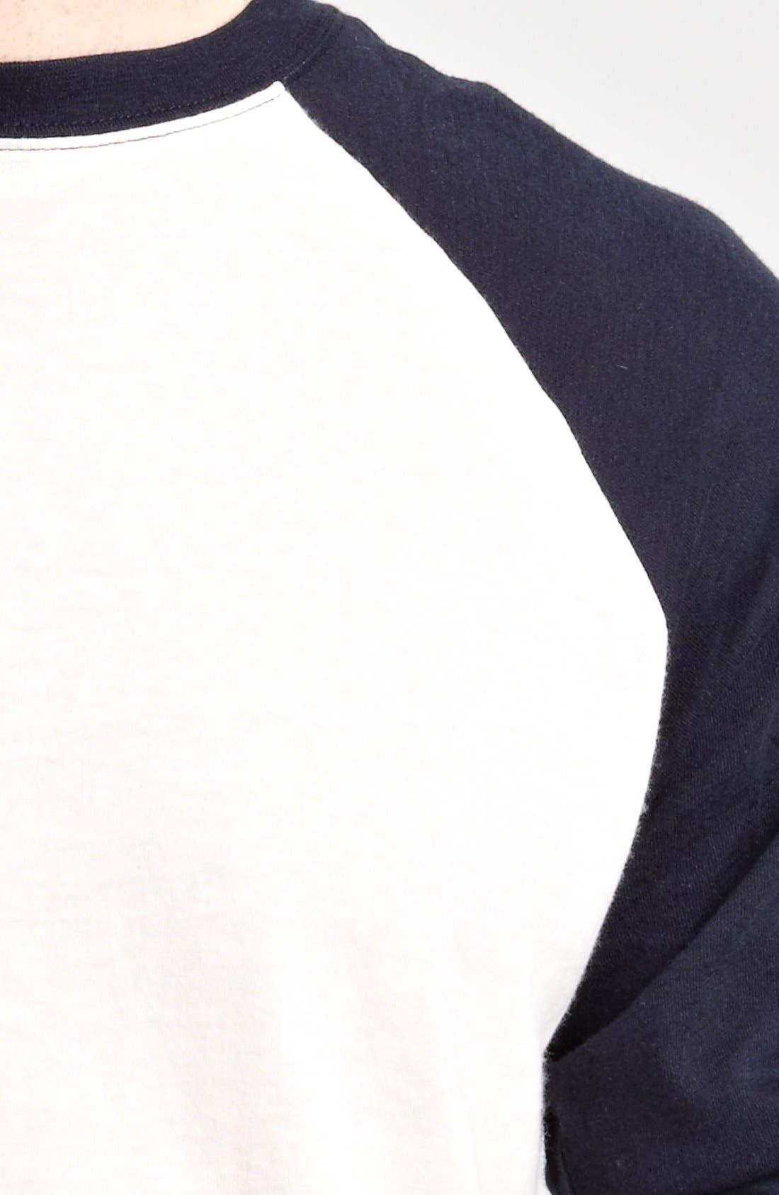 Alternate Image 3  - Billy Reid Pima Cotton Cashmere Baseball T-Shirt