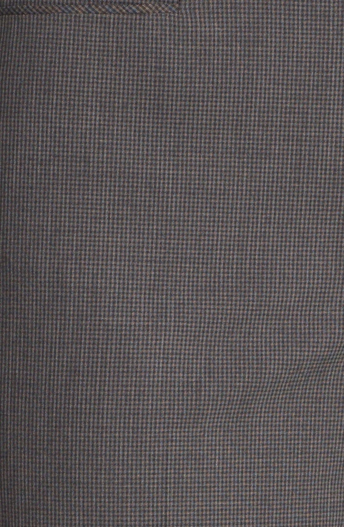 Alternate Image 3  - Halogen® 'Taylor' Mini Check Curvy Fit Pants (Petite)