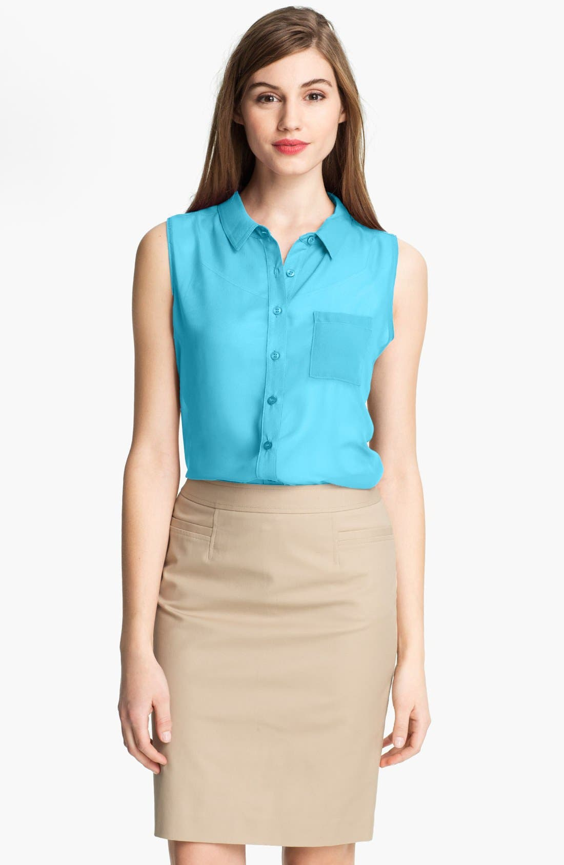 Main Image - Cielo Sleeveless Sheer Shirt