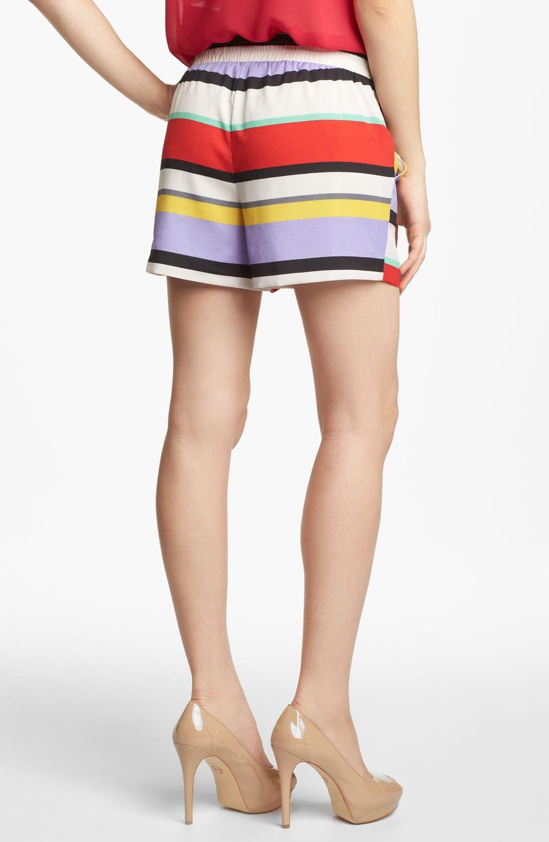 Alternate Image 3  - Kensie Stripe Drawstring Shorts