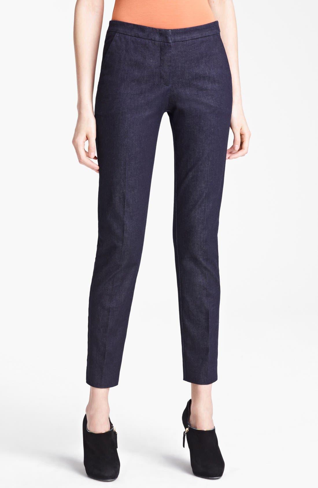 Alternate Image 1 Selected - Armani Collezioni Narrow Leg Stretch Jeans