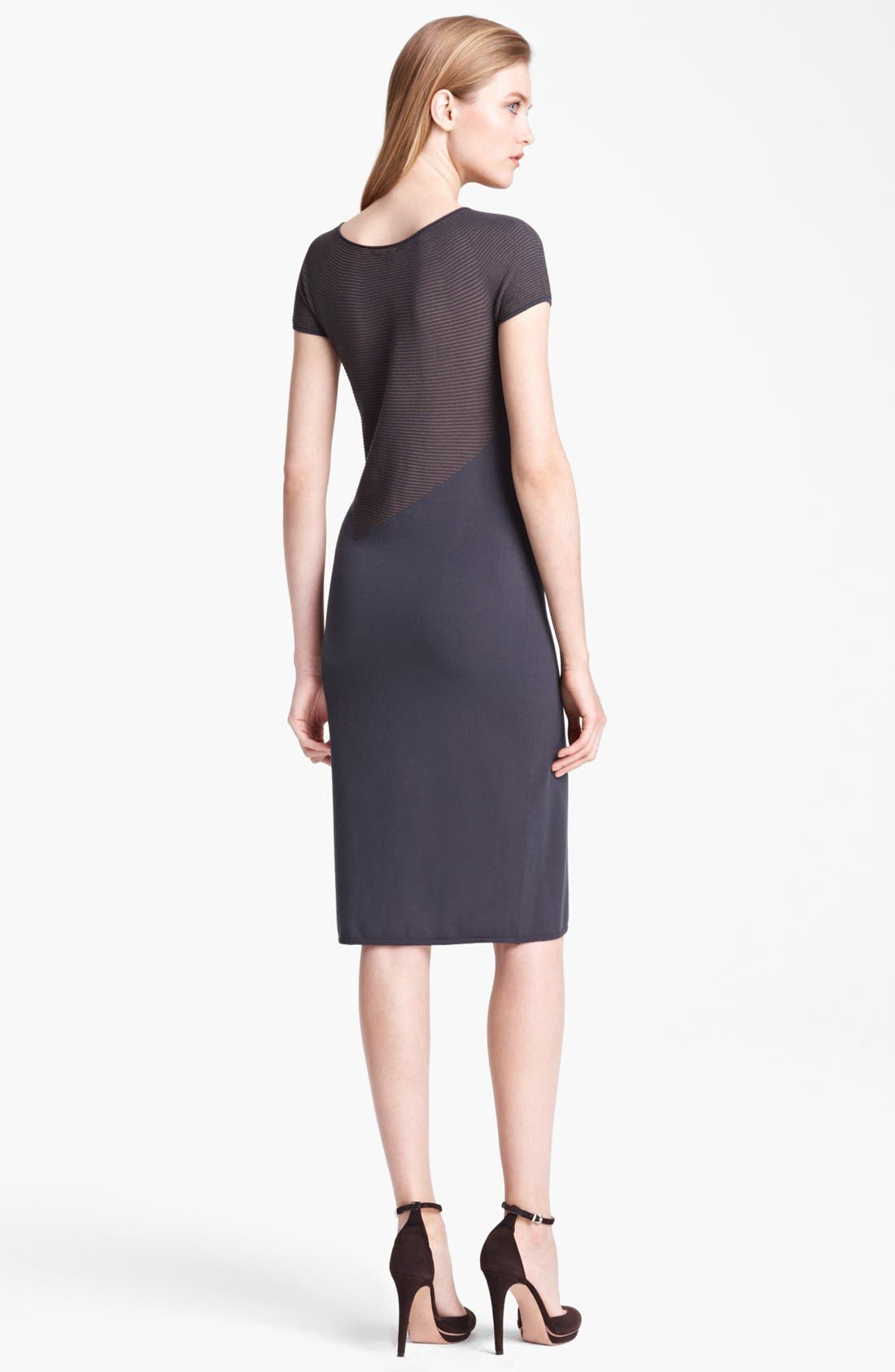 Alternate Image 2  - Armani Collezioni Microstripe Jersey Dress