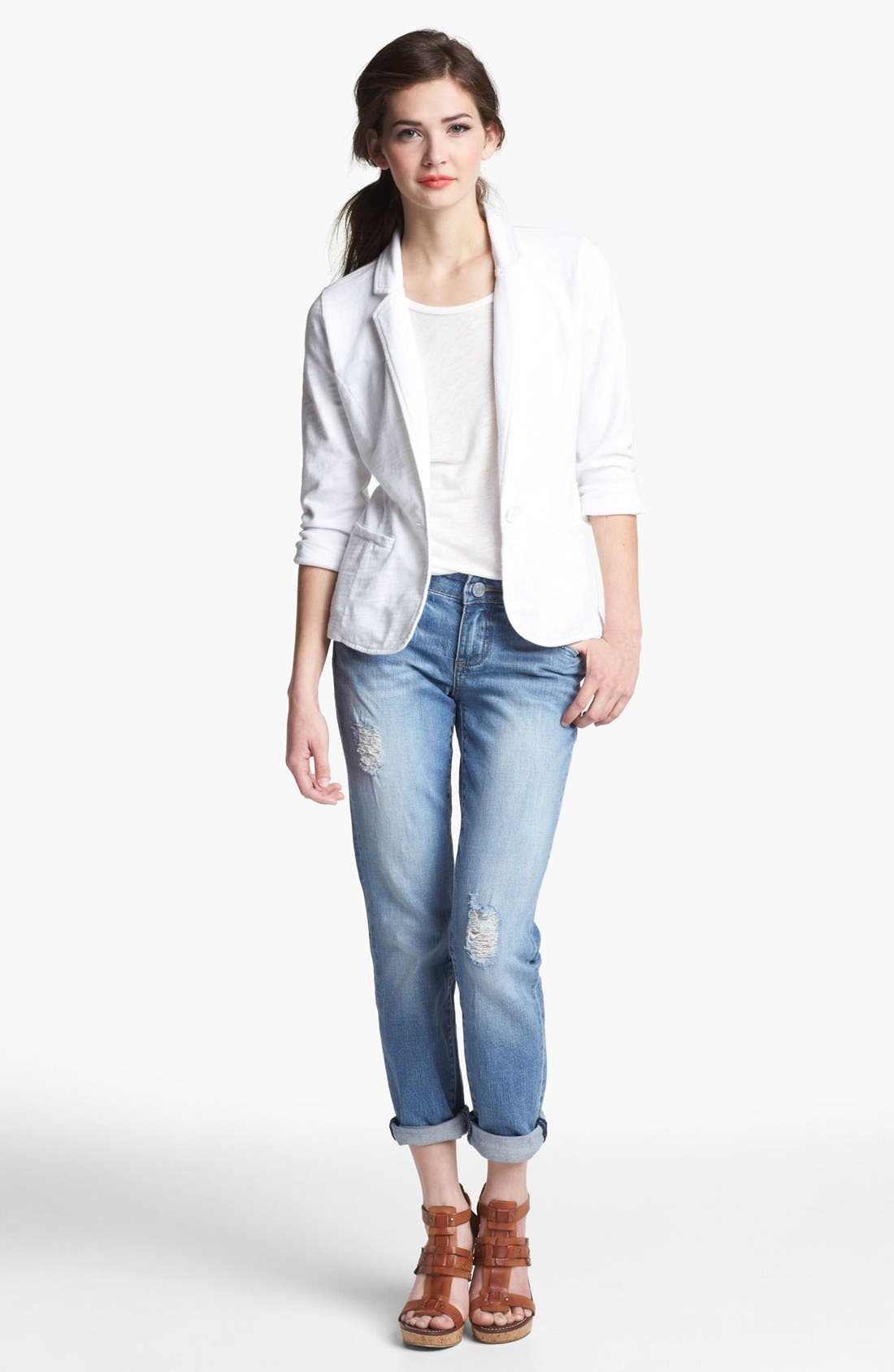 Alternate Image 4  - KUT from the Kloth 'Catherine' Distressed Slim Boyfriend Jeans (Discover)