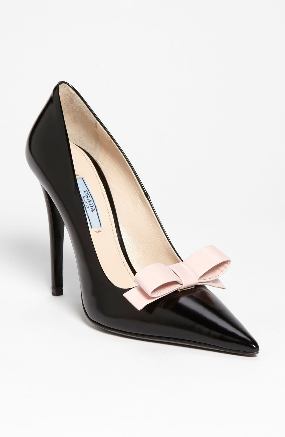 Alternate Image 1 Selected - Prada Bow Pointy Toe Pump