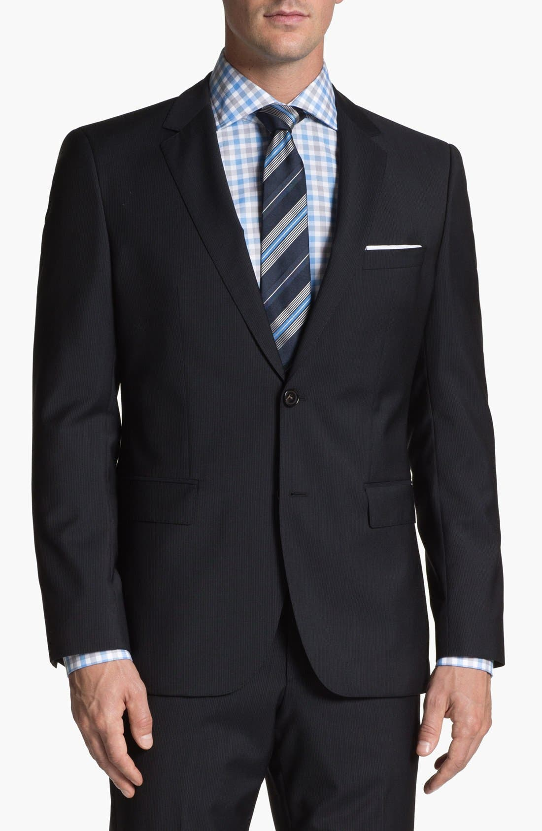 Alternate Image 4  - BOSS HUGO BOSS 'James/Sharp' Trim Fit Stripe Suit