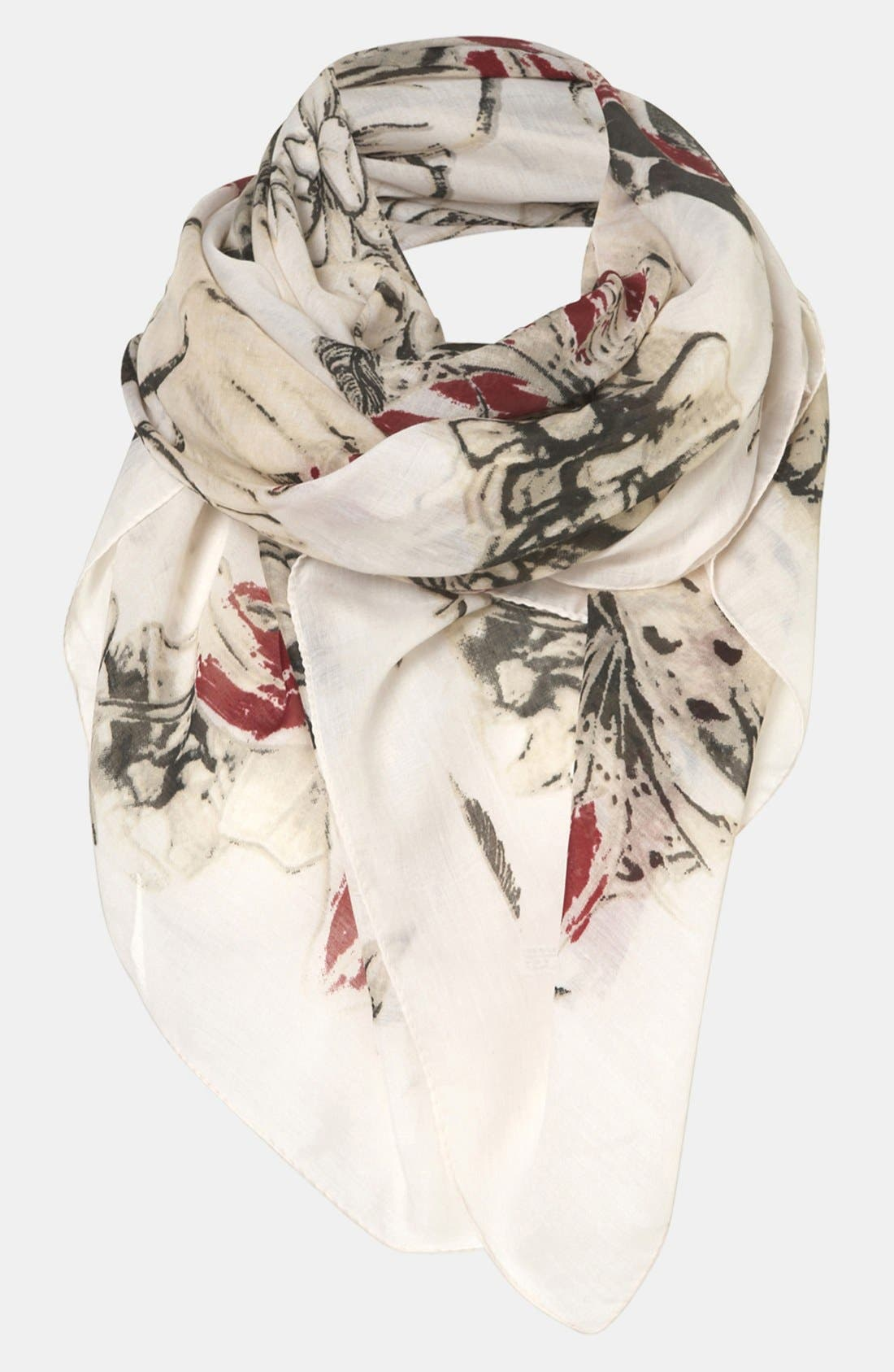 Alternate Image 1 Selected - Topshop 'Sketchy Owl' Scarf
