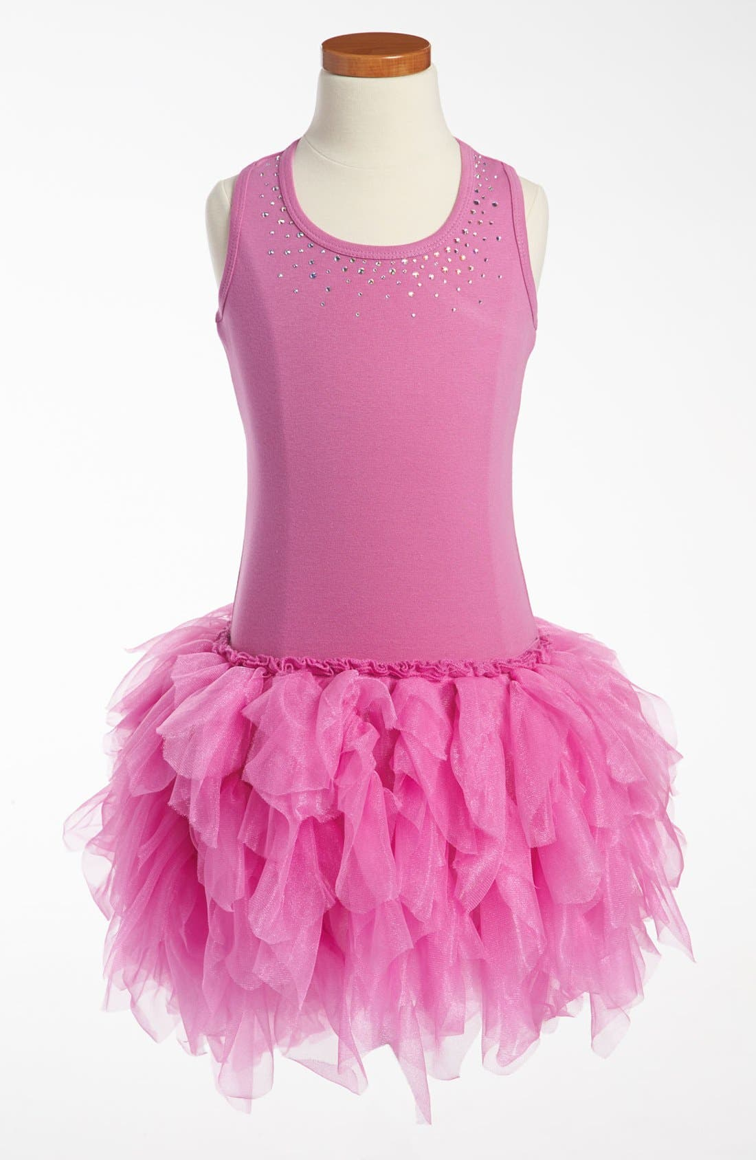 Main Image - Ooh! La, La! Couture 'Swarovski Necklace' Dress (Little Girls & Big Girls)