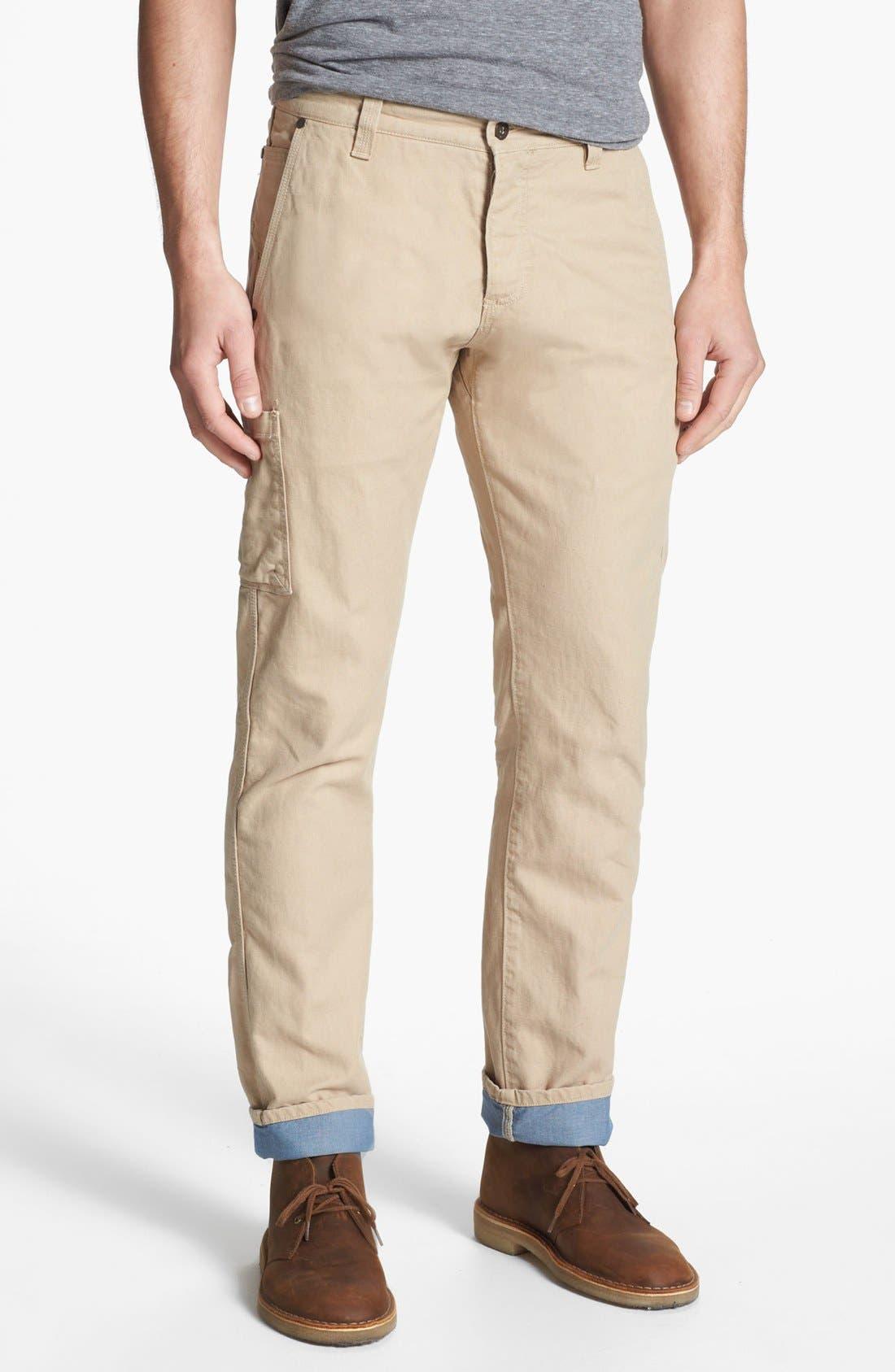 Alternate Image 1 Selected - Dockers® 'Alpha Khaki' Slim Straight Leg Canvas Chinos