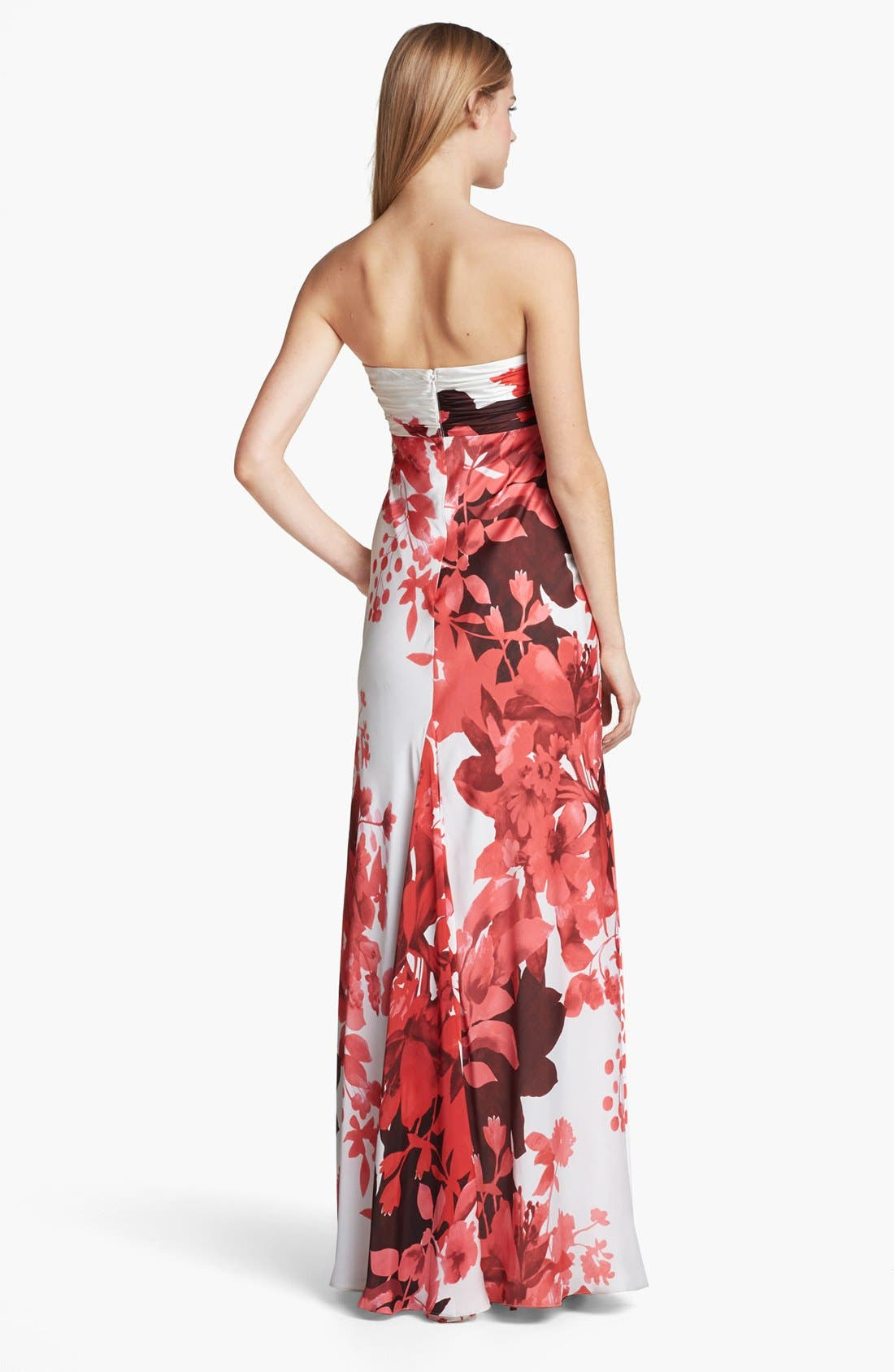 Alternate Image 2  - Adrianna Papell Front Twist Floral Print Gown