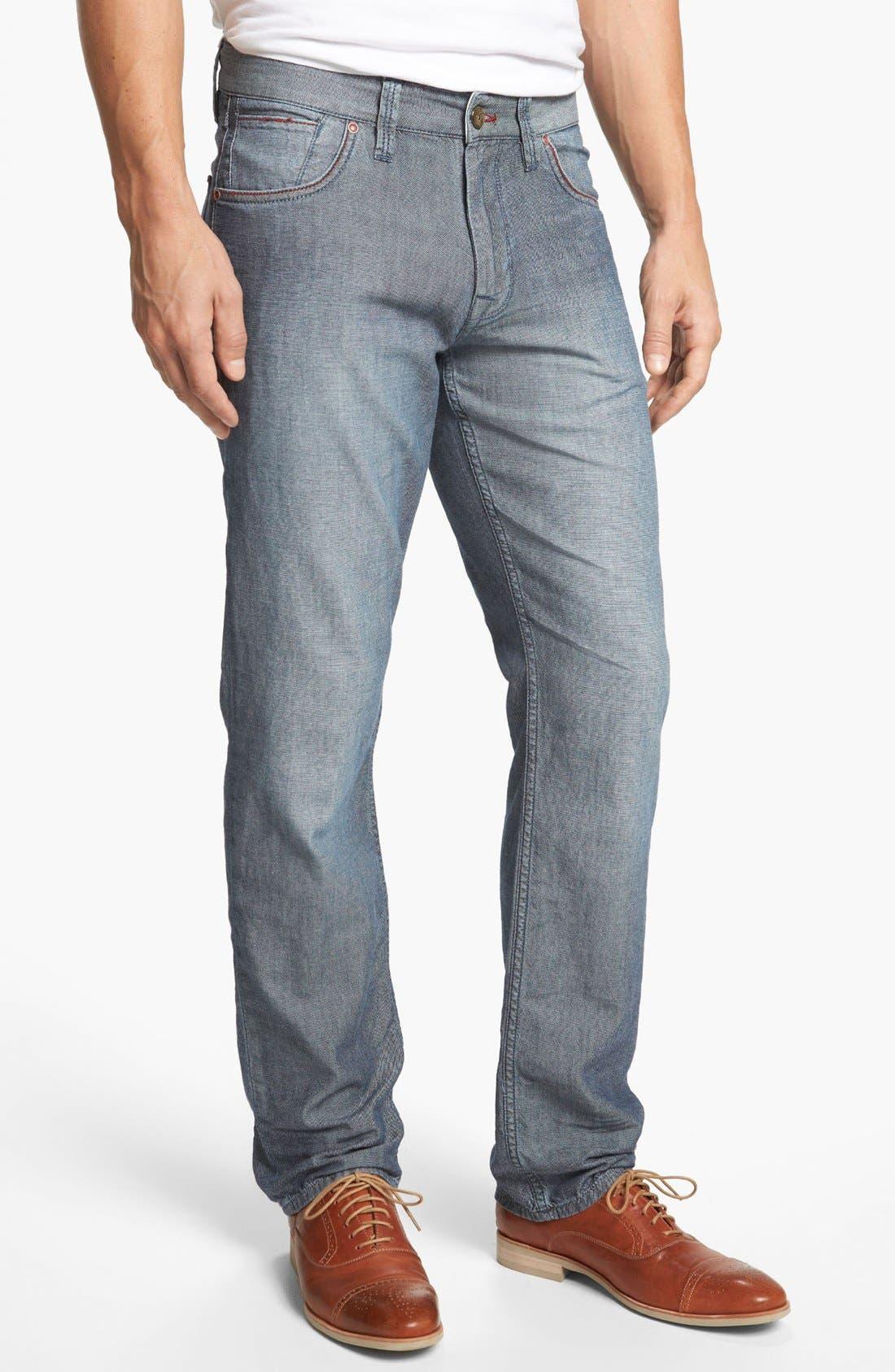 Main Image - Robert Graham 'Denim Nails' Classic Fit Jeans (Indigo)