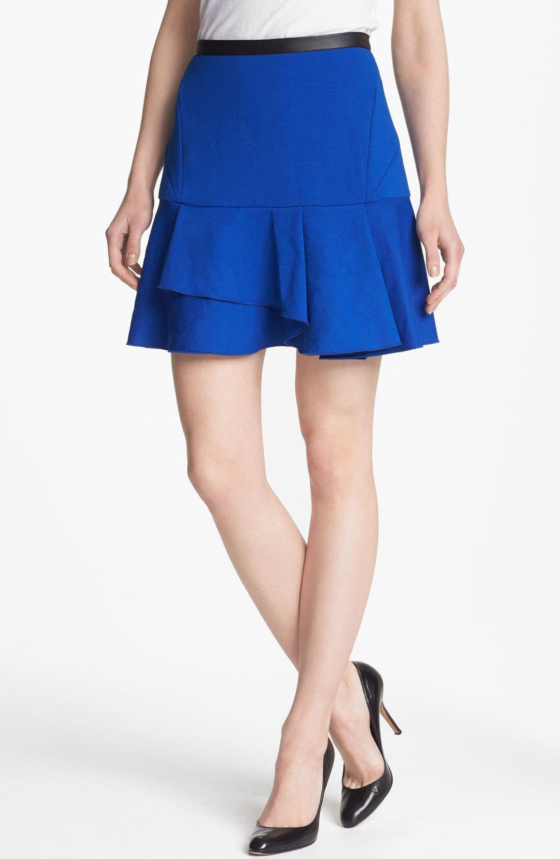 Main Image - Robbi & Nikki Asymmetrical Ruffle Skirt