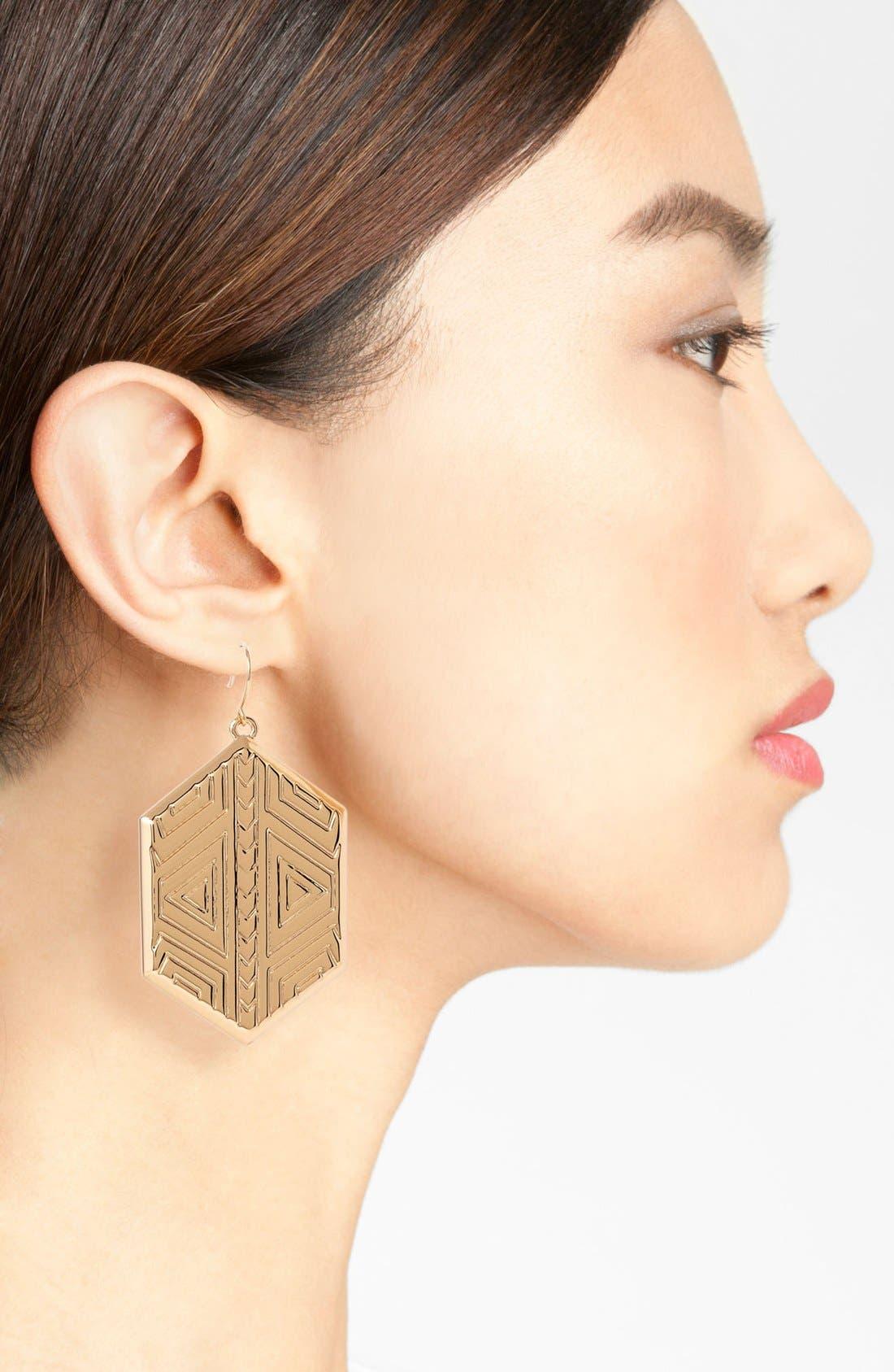 Alternate Image 2  - Vince Camuto 'Tribal Fusion' Shield Drop Earrings