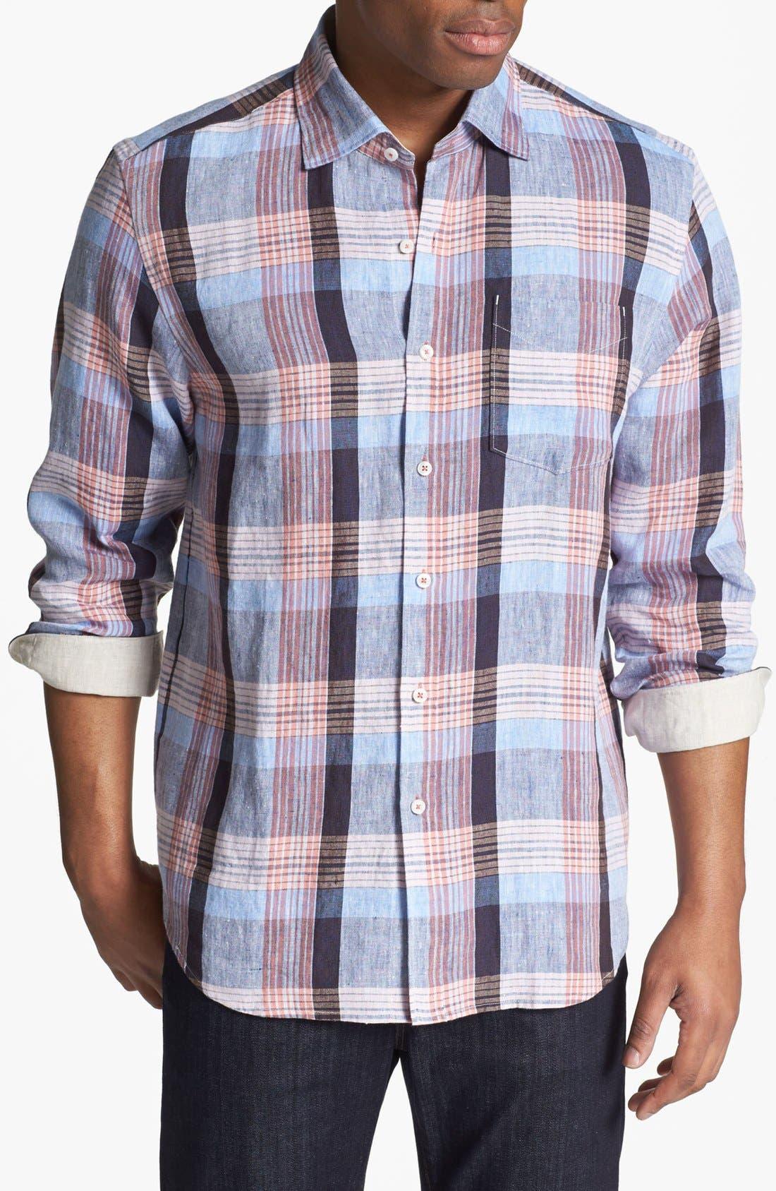 Alternate Image 1 Selected - Tommy Bahama 'Grande' Regular Fit Linen Sport Shirt