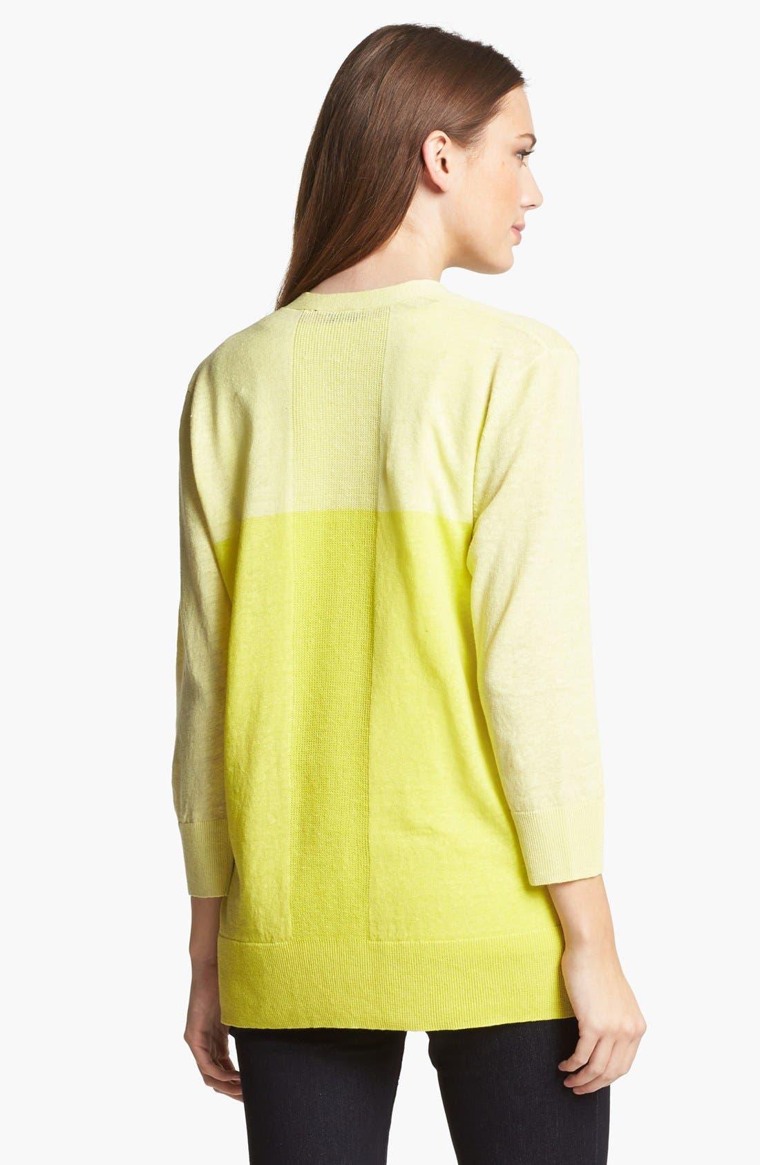 Alternate Image 2  - Amber Sun Colorblock Linen & Cotton Cardigan