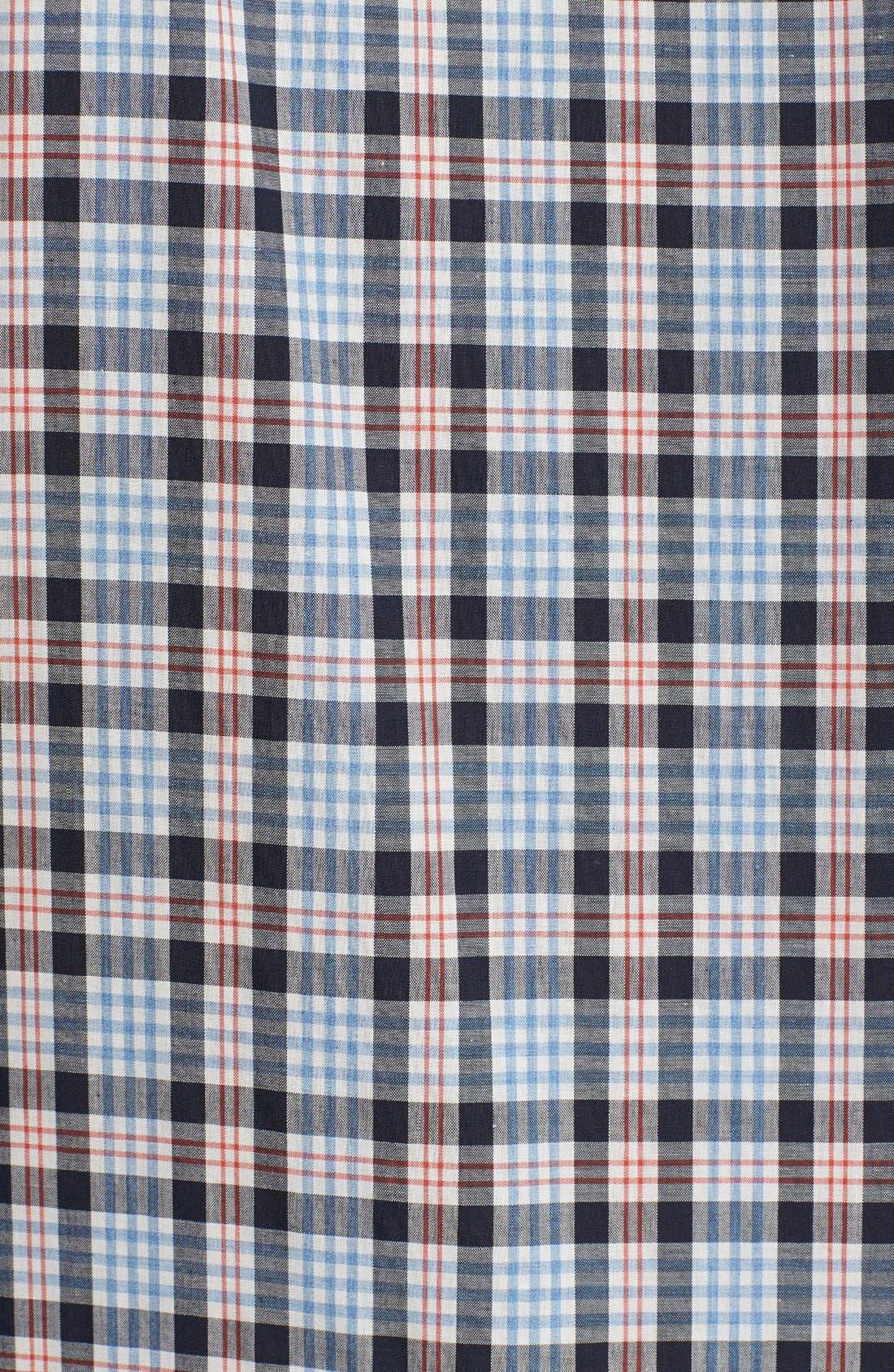 Alternate Image 2  - 7 Diamonds 'Sweet Nothing' Plaid Woven Short Sleeve Shirt