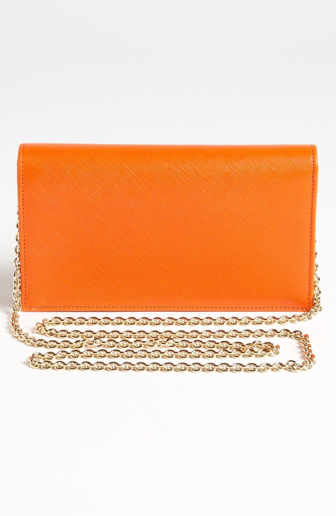 Alternate Image 4  - Salavatore Ferragamo 'Miss Vara' Leather Wallet on a Chain