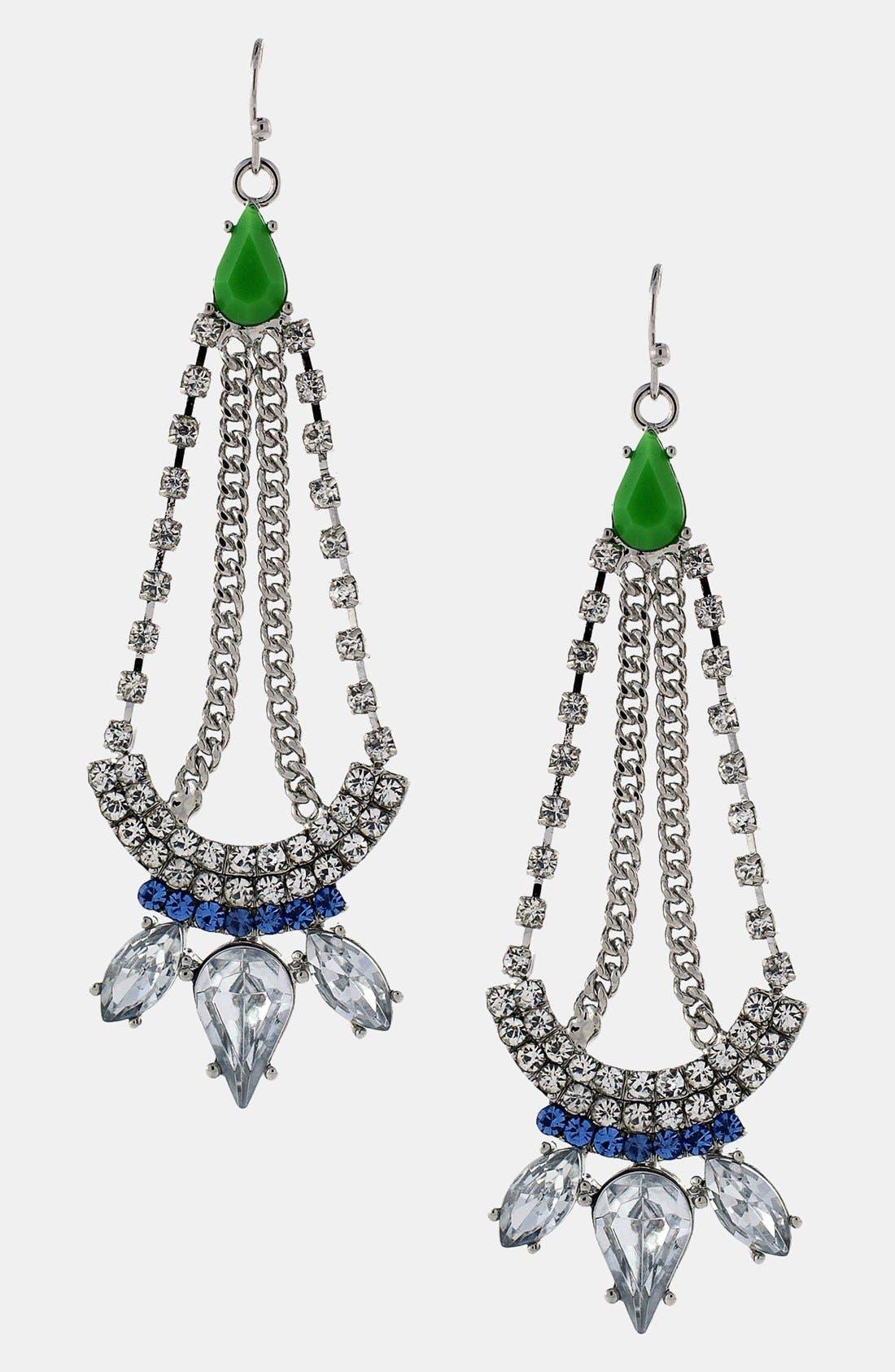 Main Image - Jessica Simpson 'Tropic Nights' Chandelier Earrings