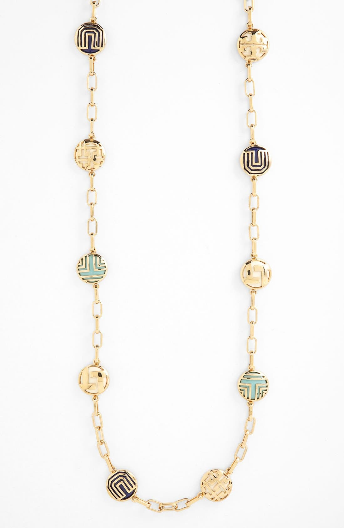 Main Image - Tory Burch 'Color Frete' Long Station Necklace