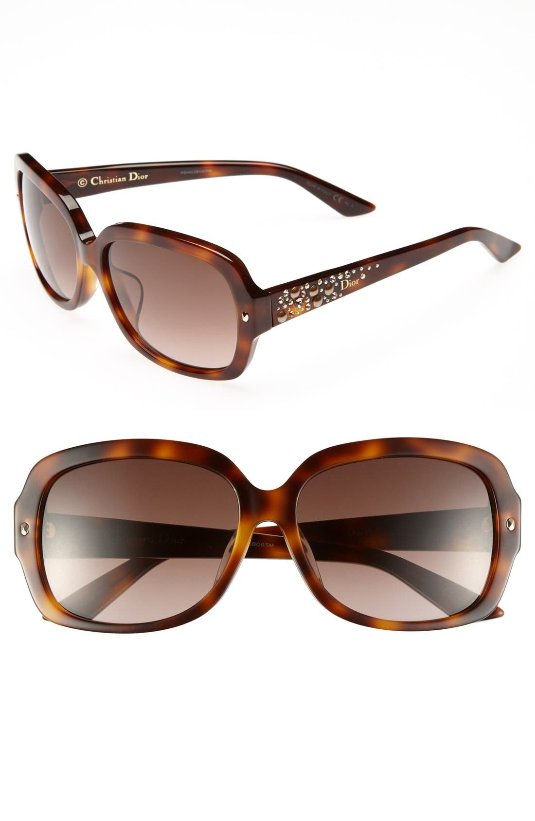 Main Image - Dior 'Brilliance - Special Fit' 58mm Sunglasses