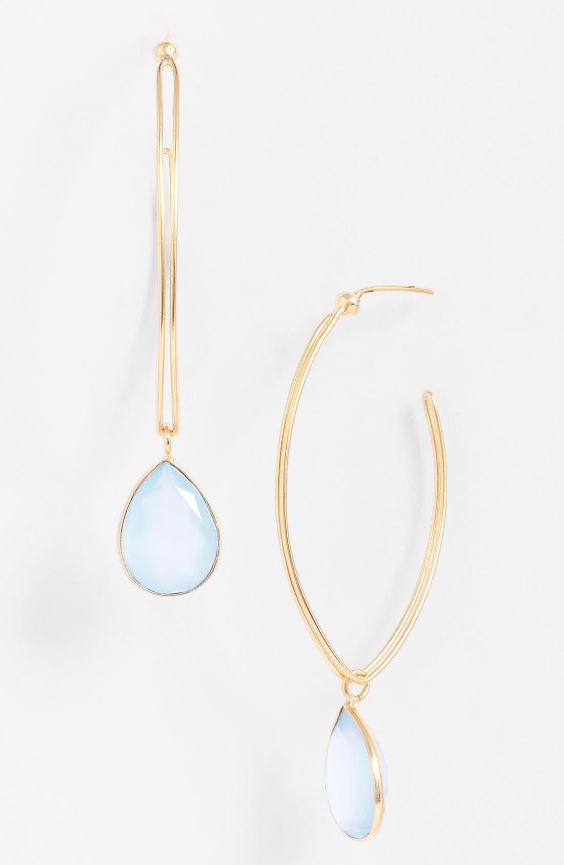 Alternate Image 1 Selected - NuNu Designs Hoop Drop Earrings