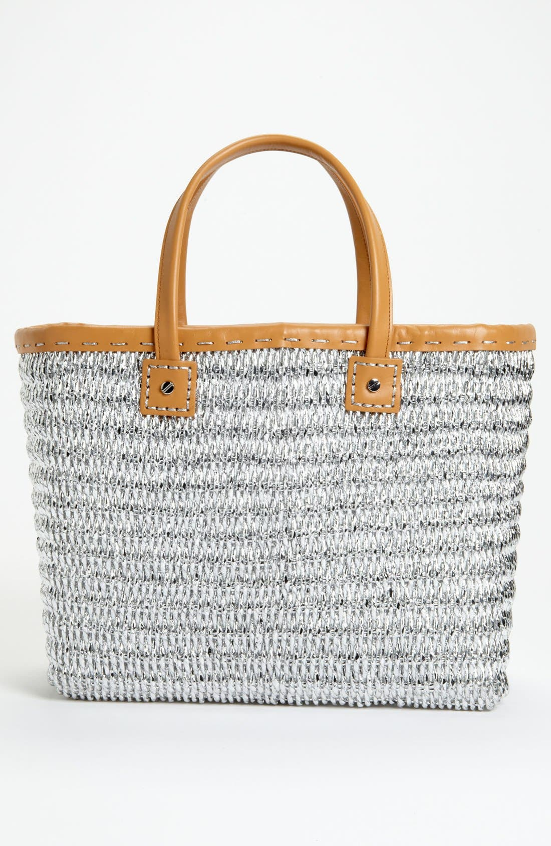 Alternate Image 4  - Tory Burch Metallic Straw Tote, Large