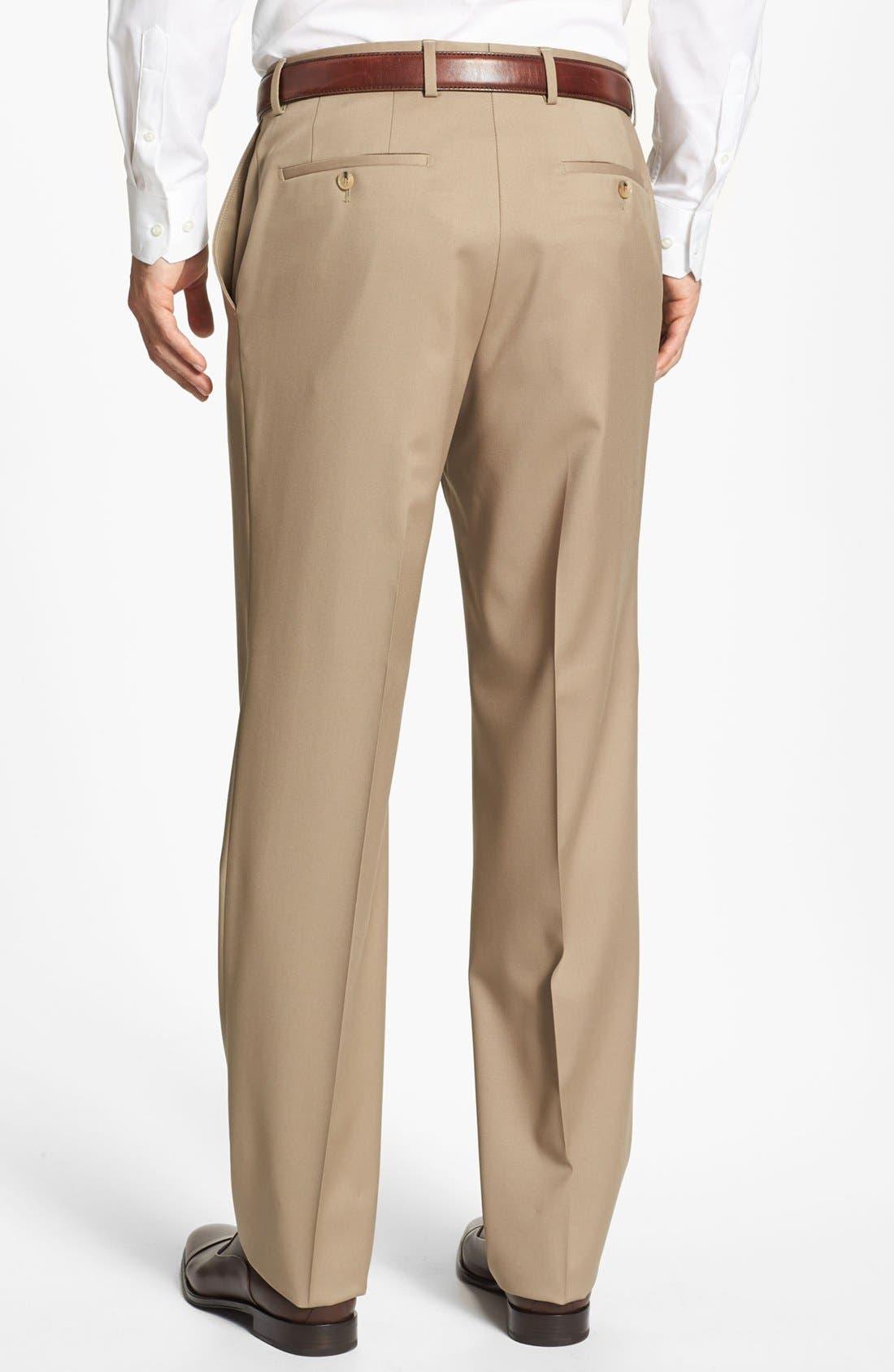 Alternate Image 2  - BOSS 'Jeffrey US' Flat Front Wool Trousers