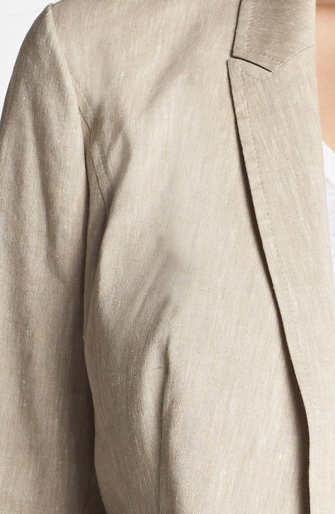 Alternate Image 3  - Halogen® Linen Blend Blazer (Regular & Petite)