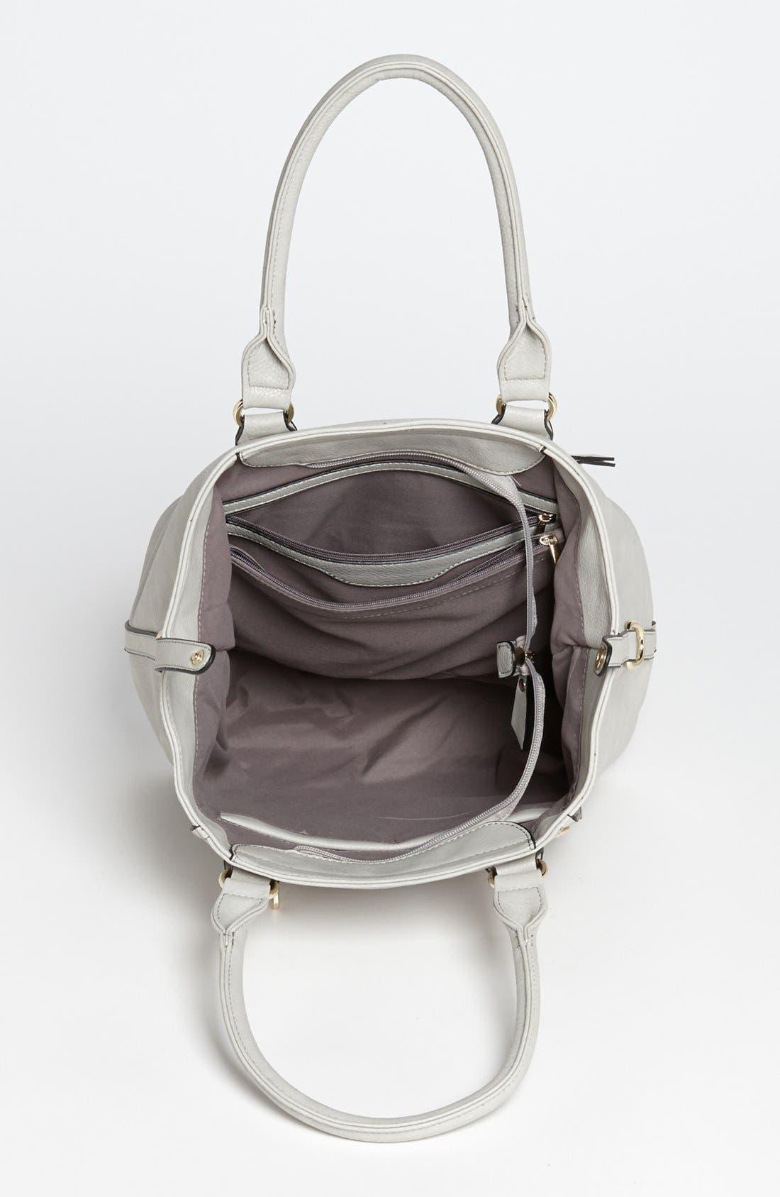 Alternate Image 3  - Emperia Zip Front Faux Leather Shoulder Bag