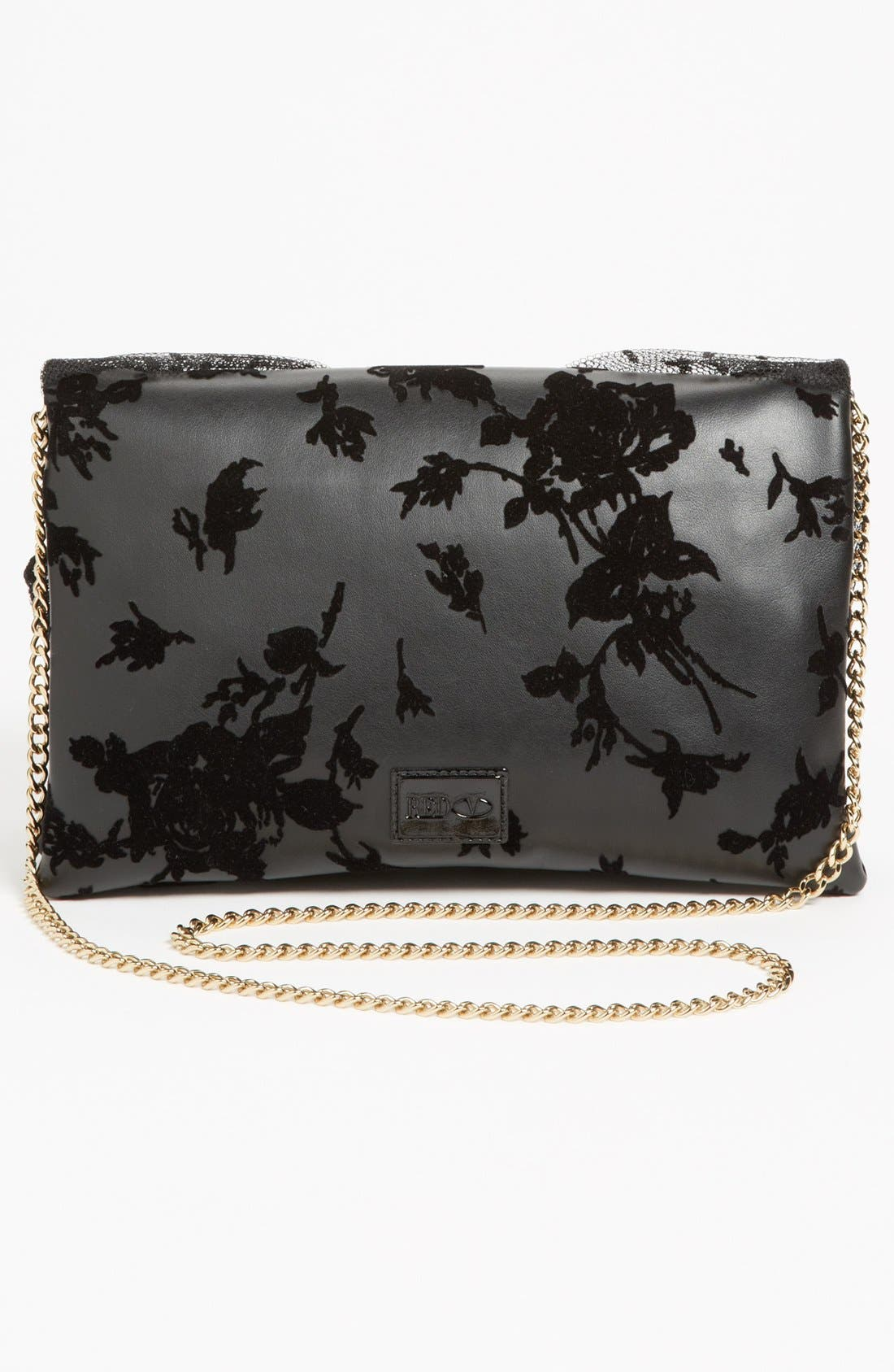 Alternate Image 4  - RED Valentino 'Dot Bow' Flocked Clutch