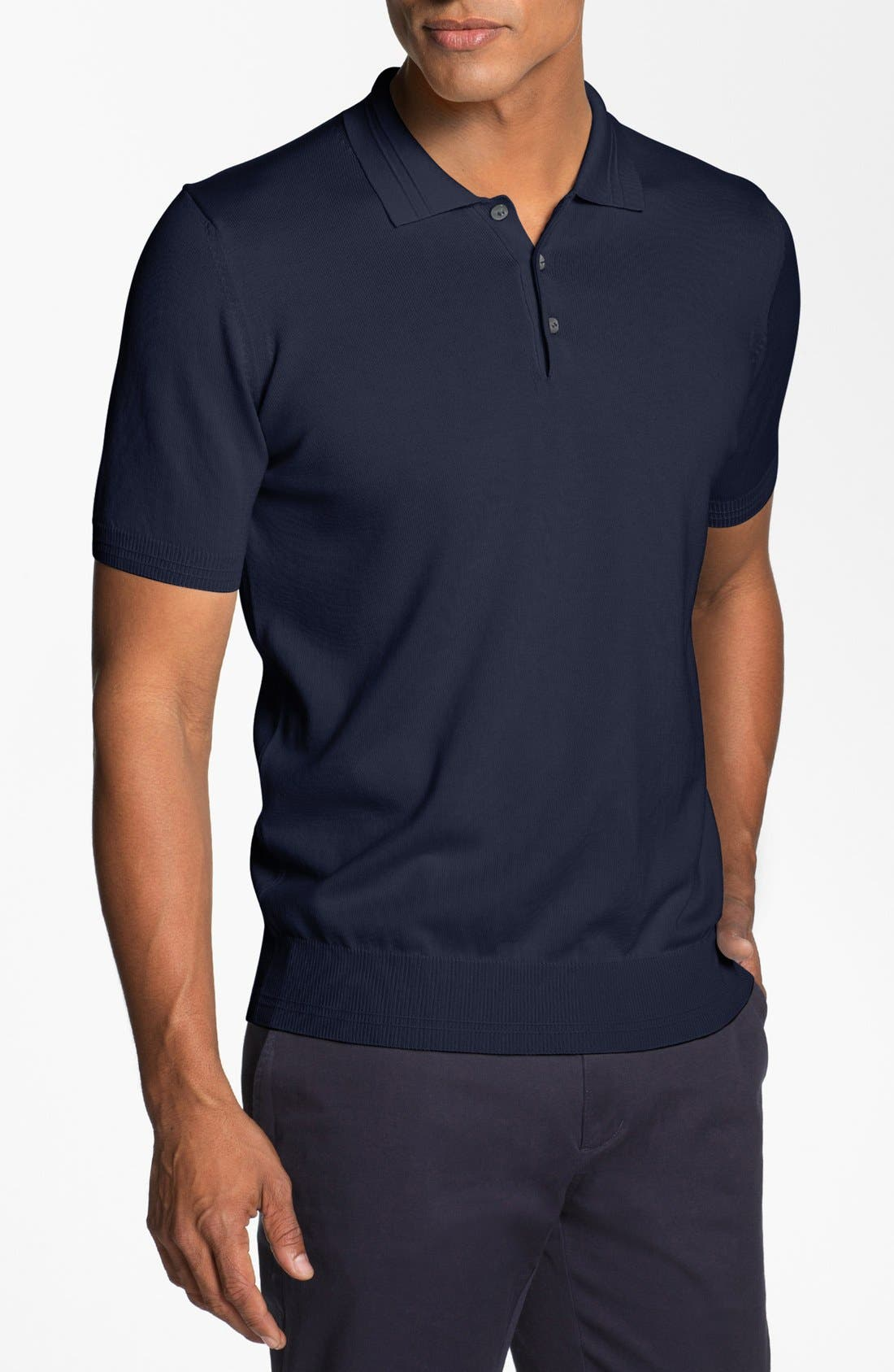 Alternate Image 1 Selected - Canali Knit Polo