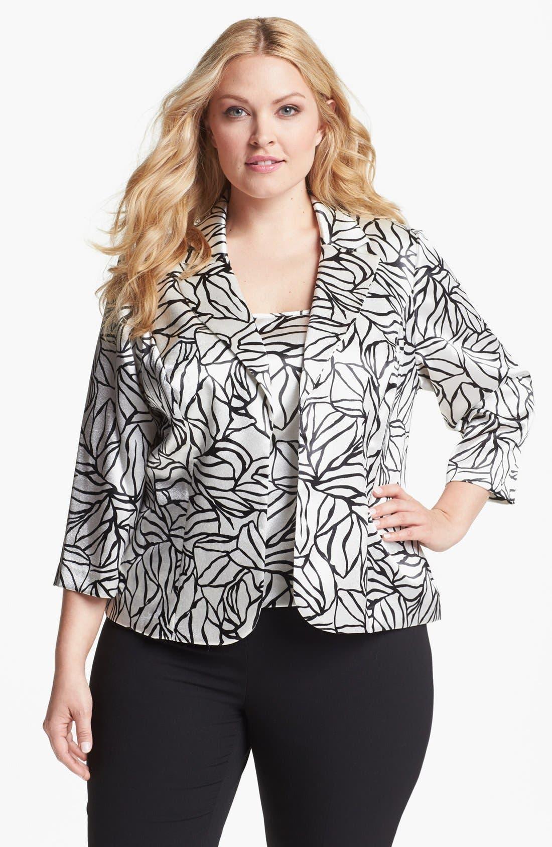 Main Image - Alex Evenings Jacket & Shell (Plus Size)