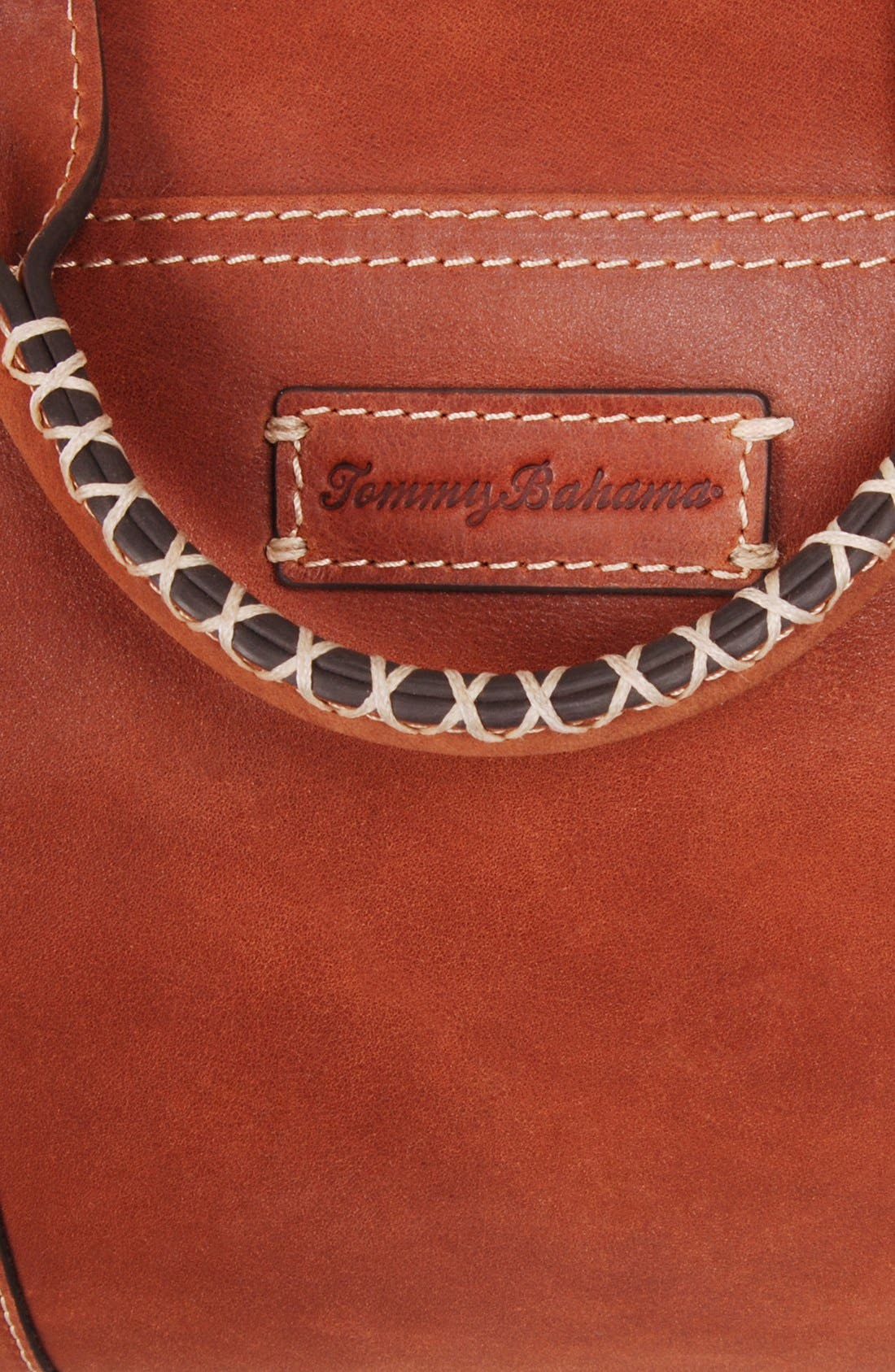 Alternate Image 6  - Tommy Bahama Leather Duffel Bag