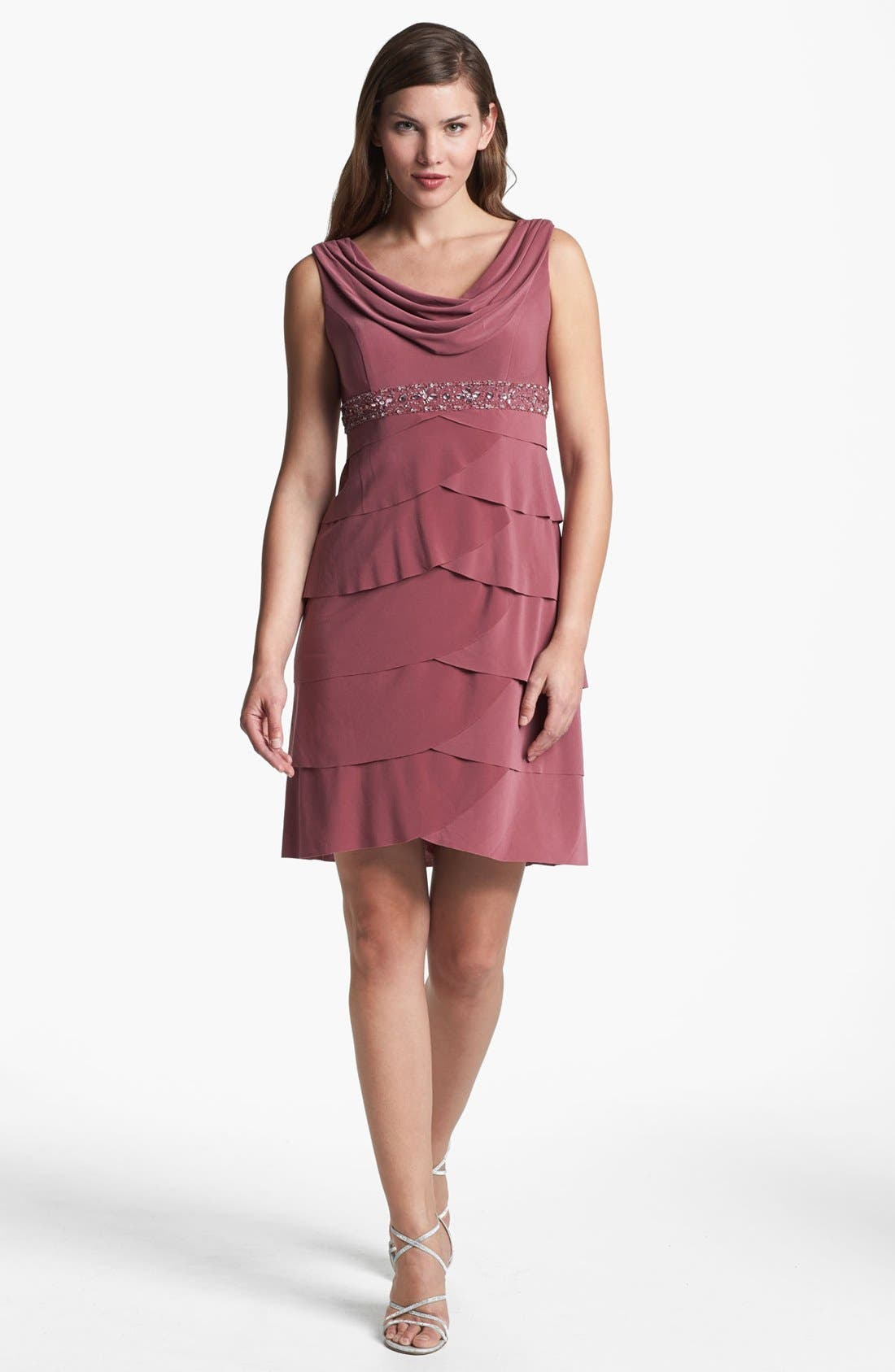 Alternate Image 2  - Alex Evenings Tiered Dress & Bolero (Petite)