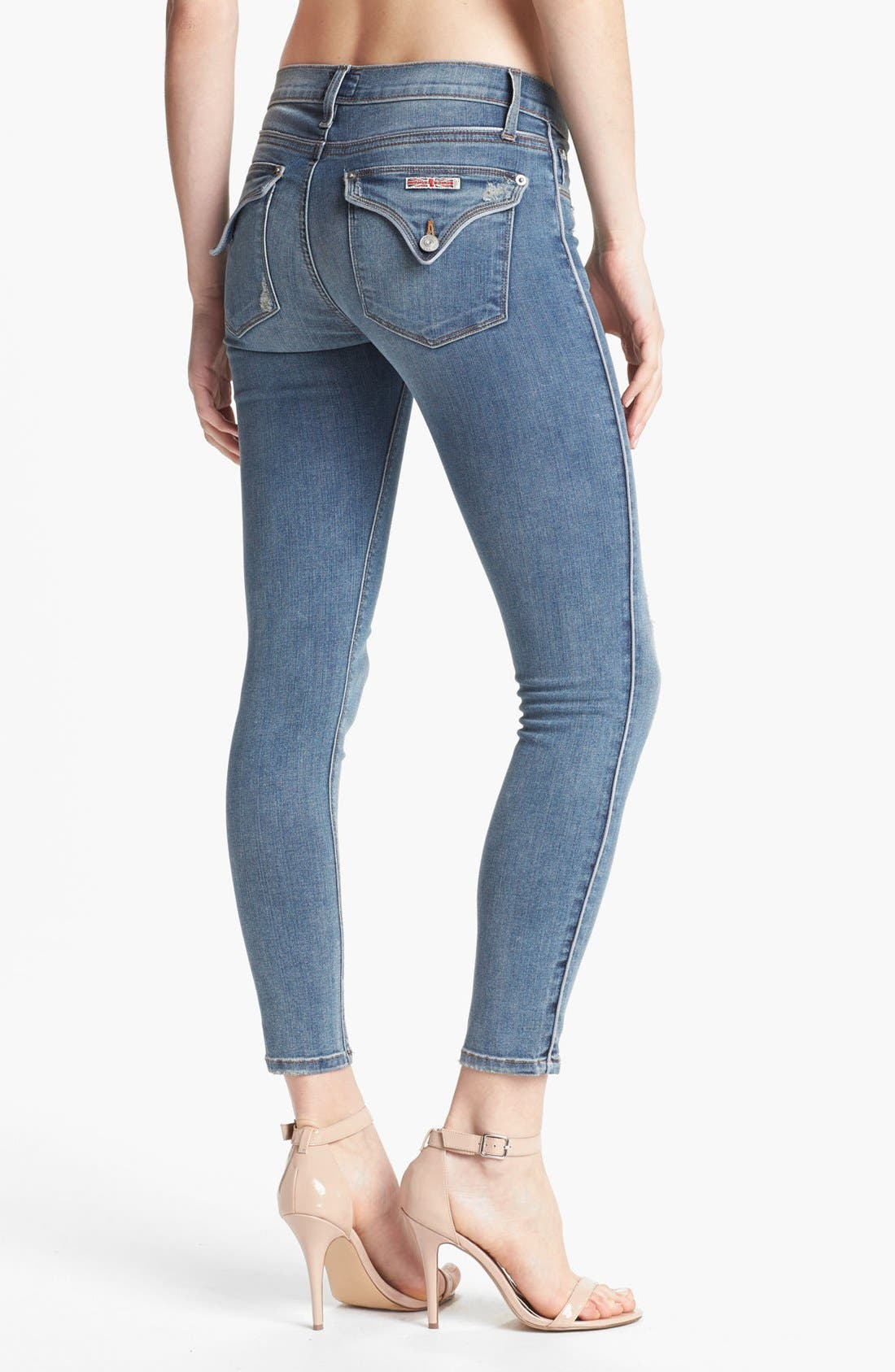 Alternate Image 2  - Hudson Jeans Piped Super Skinny Jeans