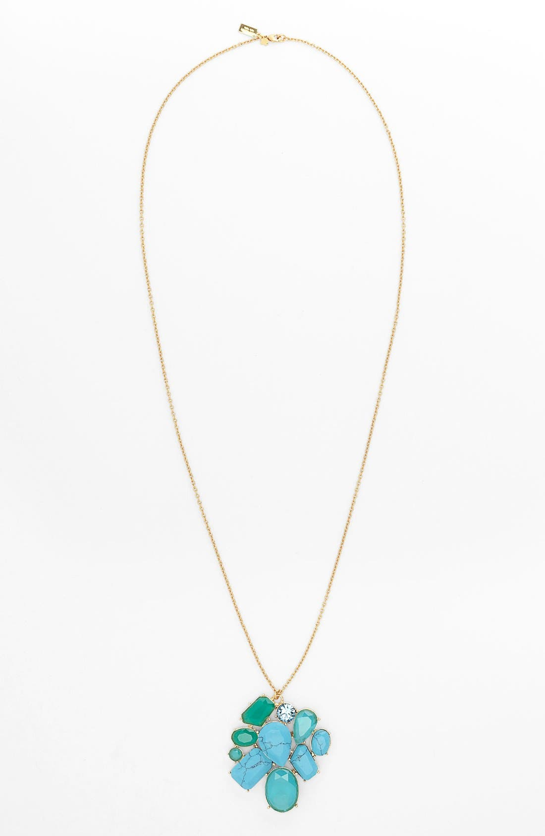 Main Image - kate spade new york 'crystal fiesta' long stone cluster pendant necklace