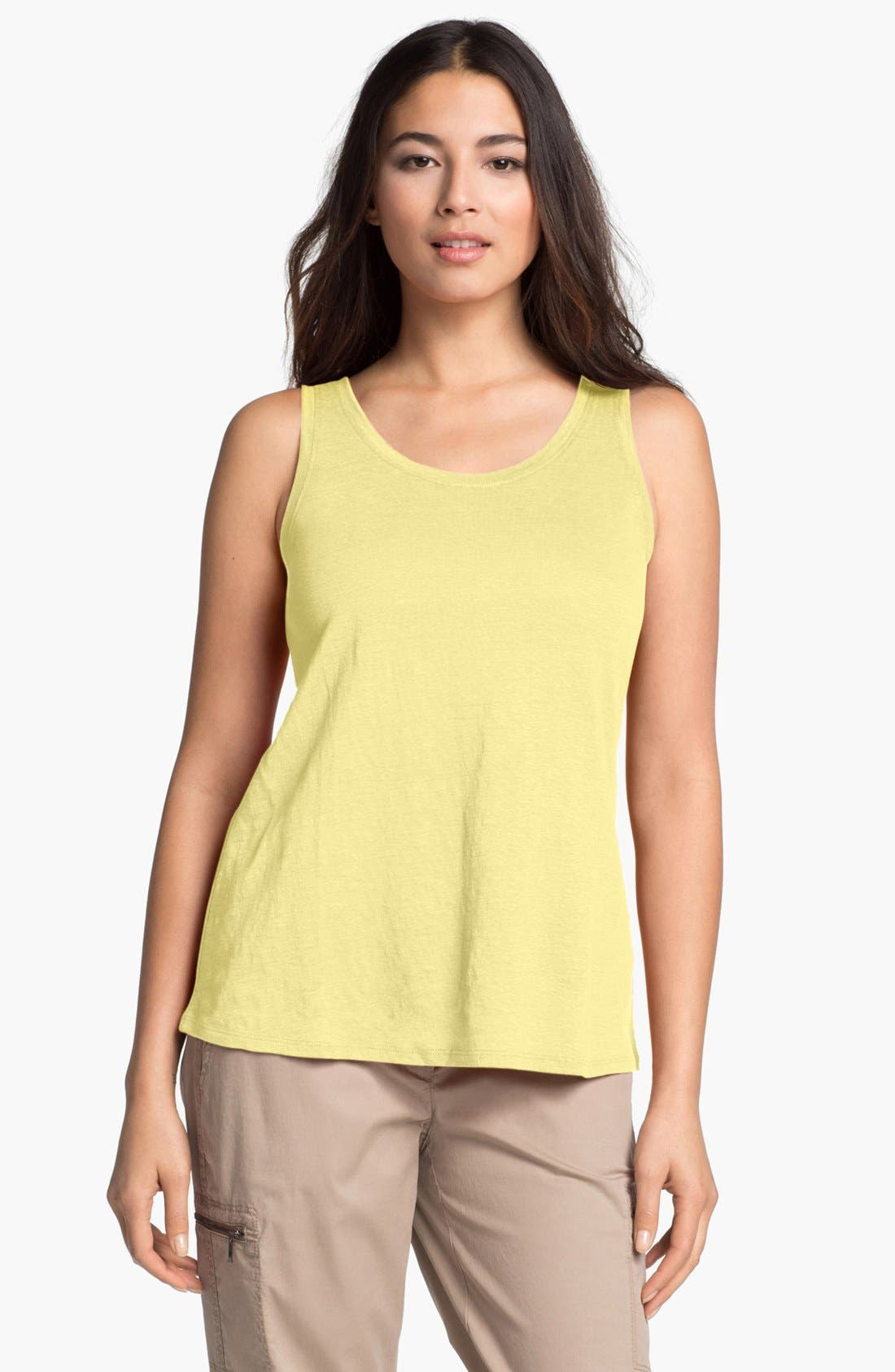 Alternate Image 1 Selected - Eileen Fisher Linen Jersey Tank