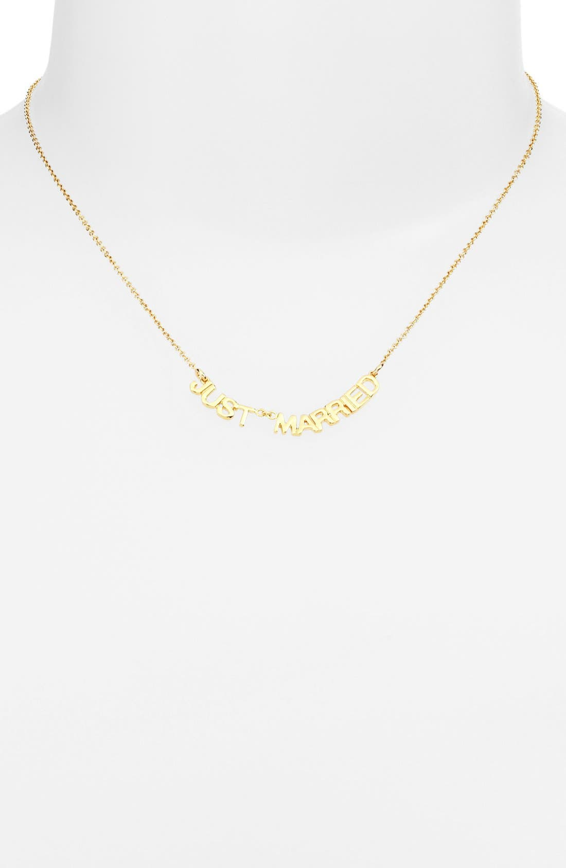 Alternate Image 1 Selected - kate spade new york 'say yes - just married' necklace