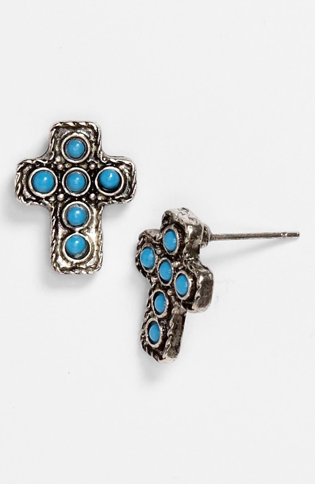 Main Image - South Sun Cross Stud Earrings