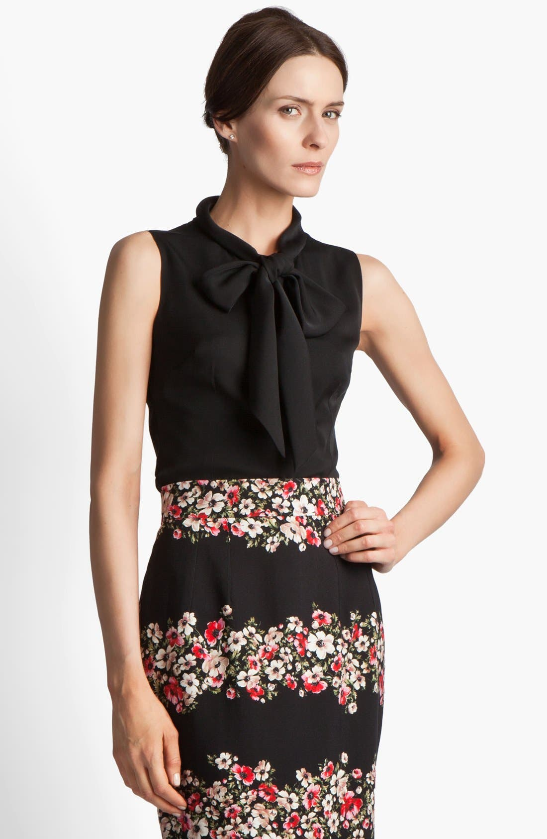 Alternate Image 1 Selected - Dolce&Gabbana Stretch Georgette Blouse