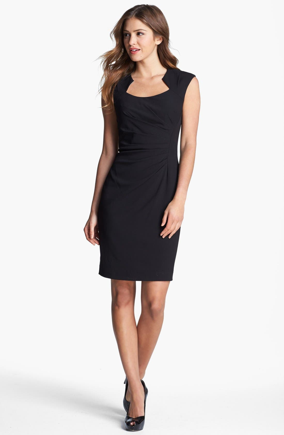 Alternate Image 1 Selected - Calvin Klein Cap Sleeve Sheath Dress