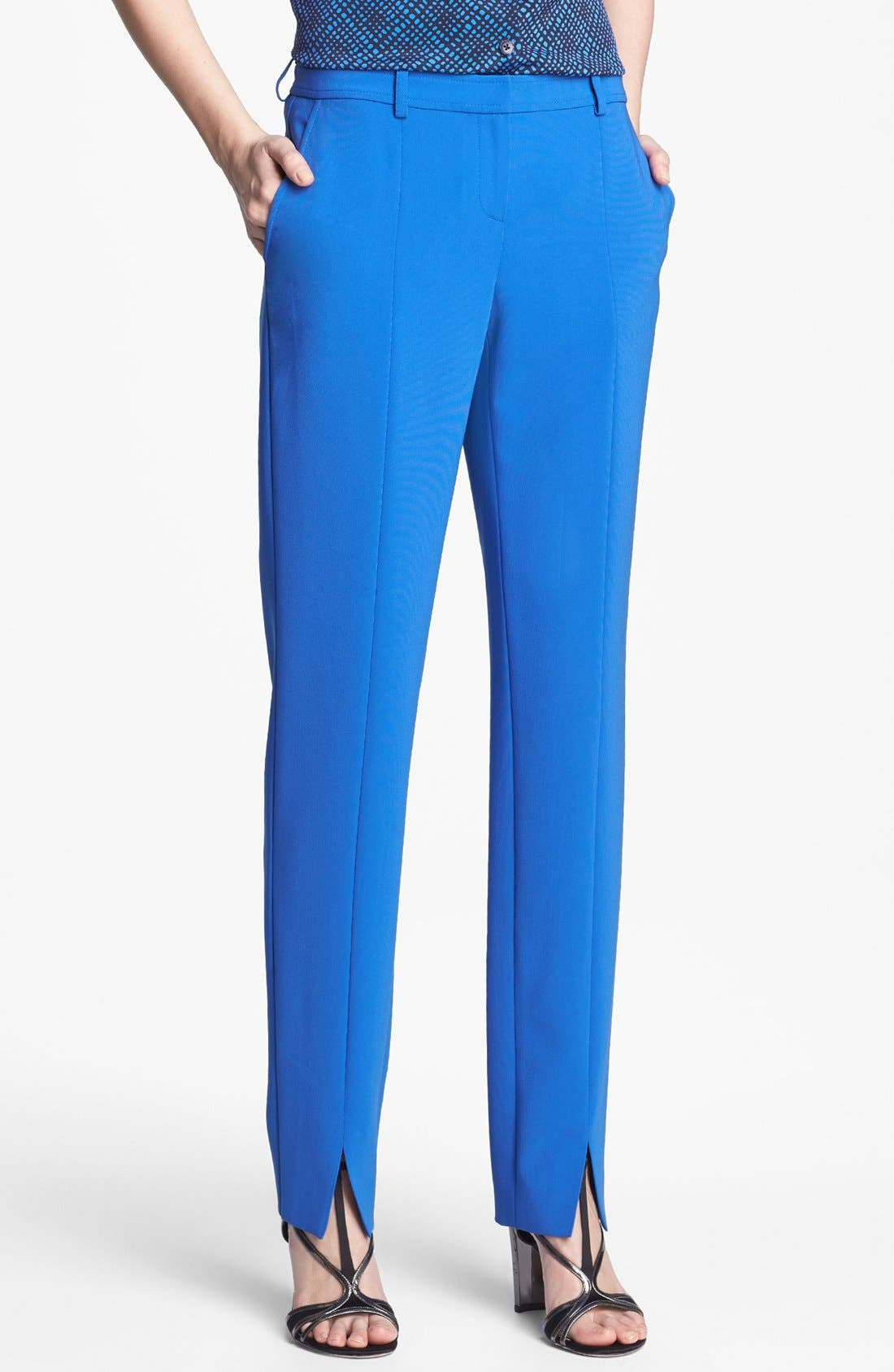 Alternate Image 1 Selected - St. John Collection 'Jennifer' Crepe Marocain Pants