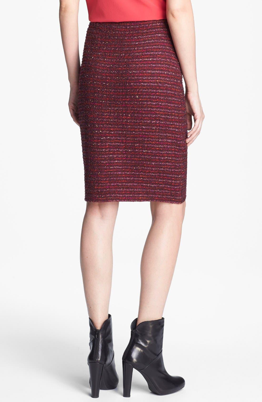 Alternate Image 4  - St. John Collection Organza Ribbon Tweed Knit Pencil Skirt