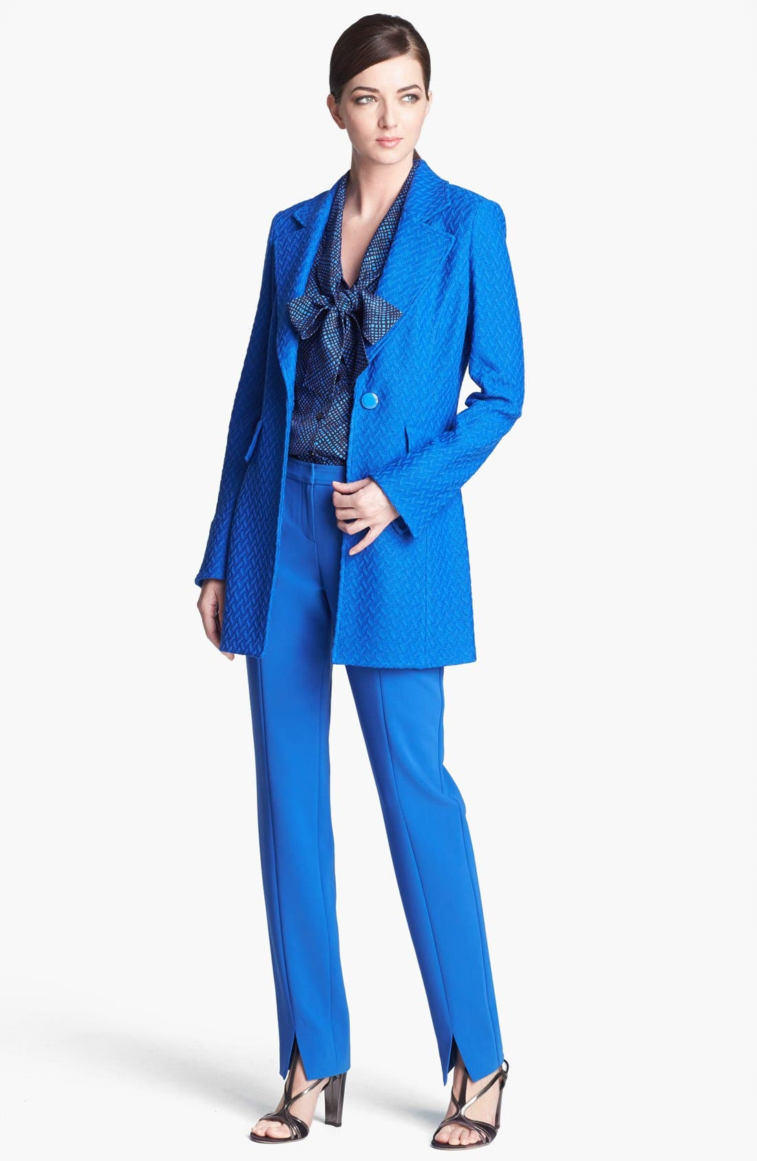 Alternate Image 2  - St. John Collection Long Twist Tweed Jacket