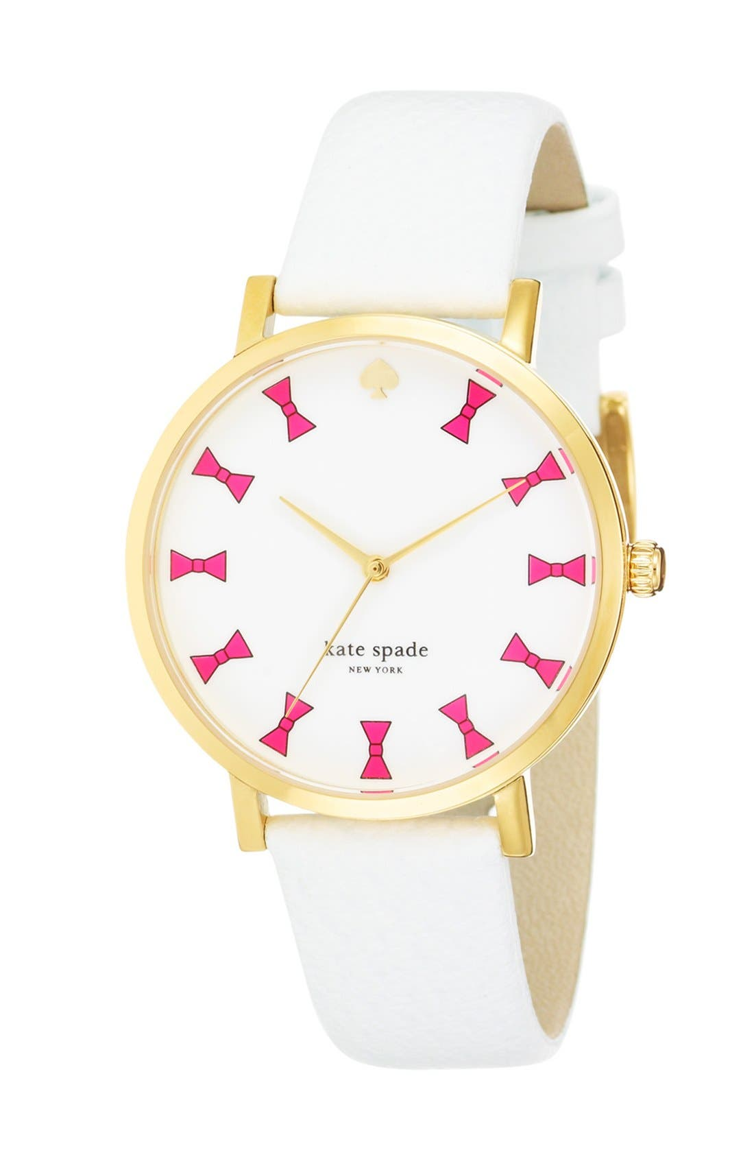 Alternate Image 2  - kate spade new york 'metro grand' bow dial watch, 38mm