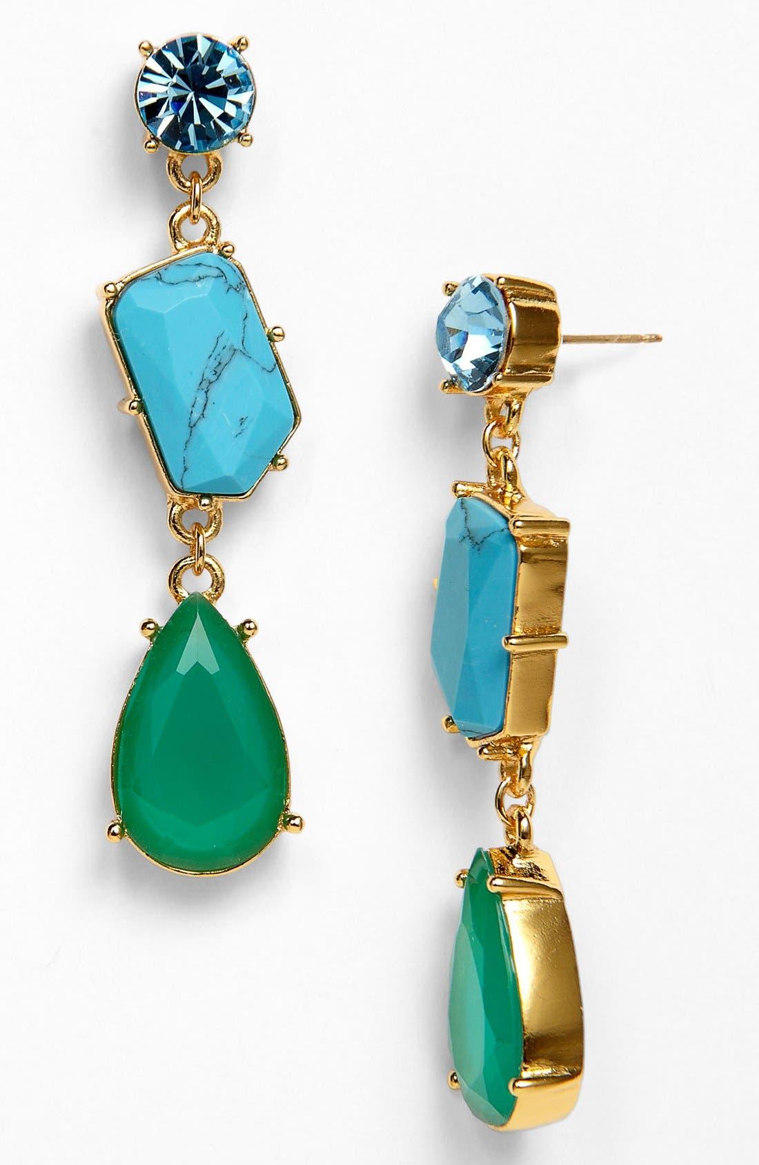 Main Image - kate spade new york 'crystal fiesta' linear stone earrings