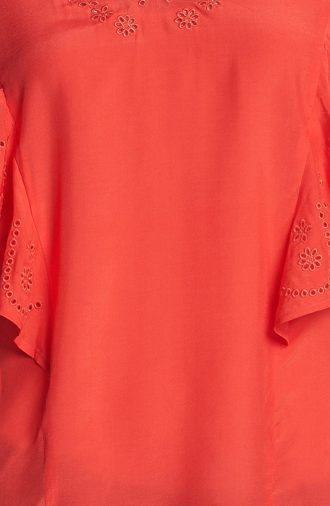 Alternate Image 3  - Hinge® Ruffle Embroidered Top