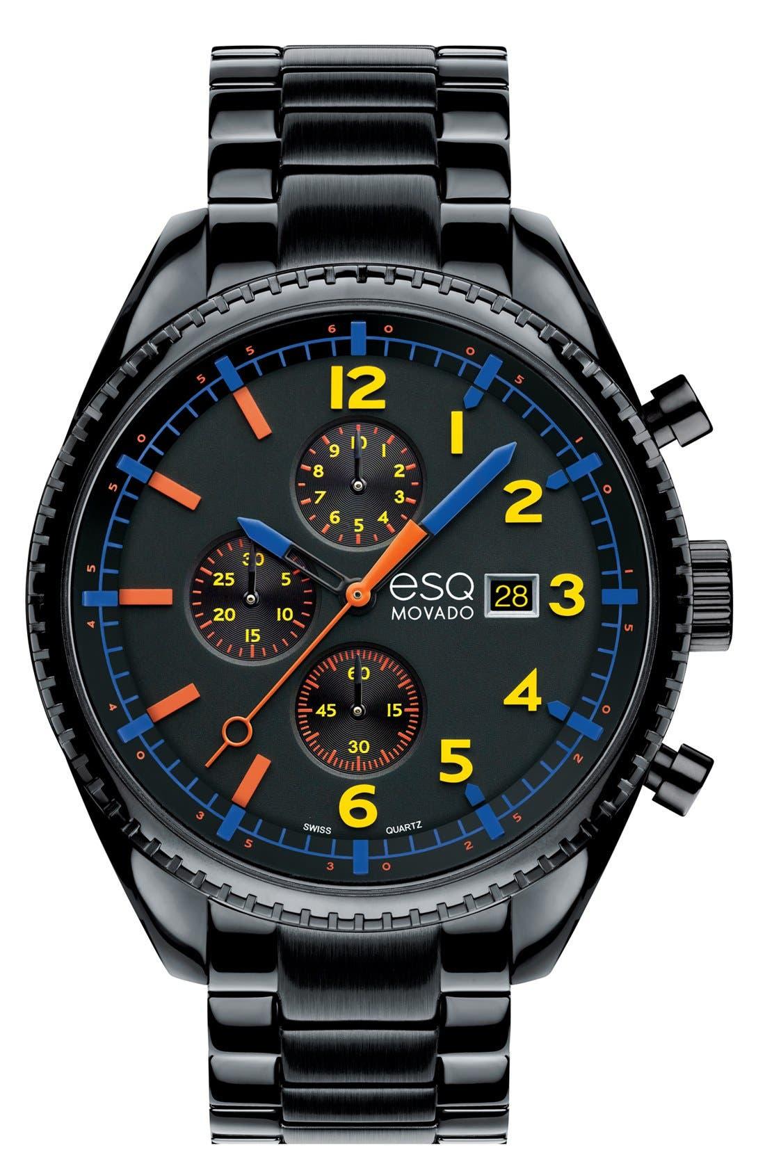 Main Image - ESQ Movado 'Catalyst' Chronograph Bracelet Watch, 44mm