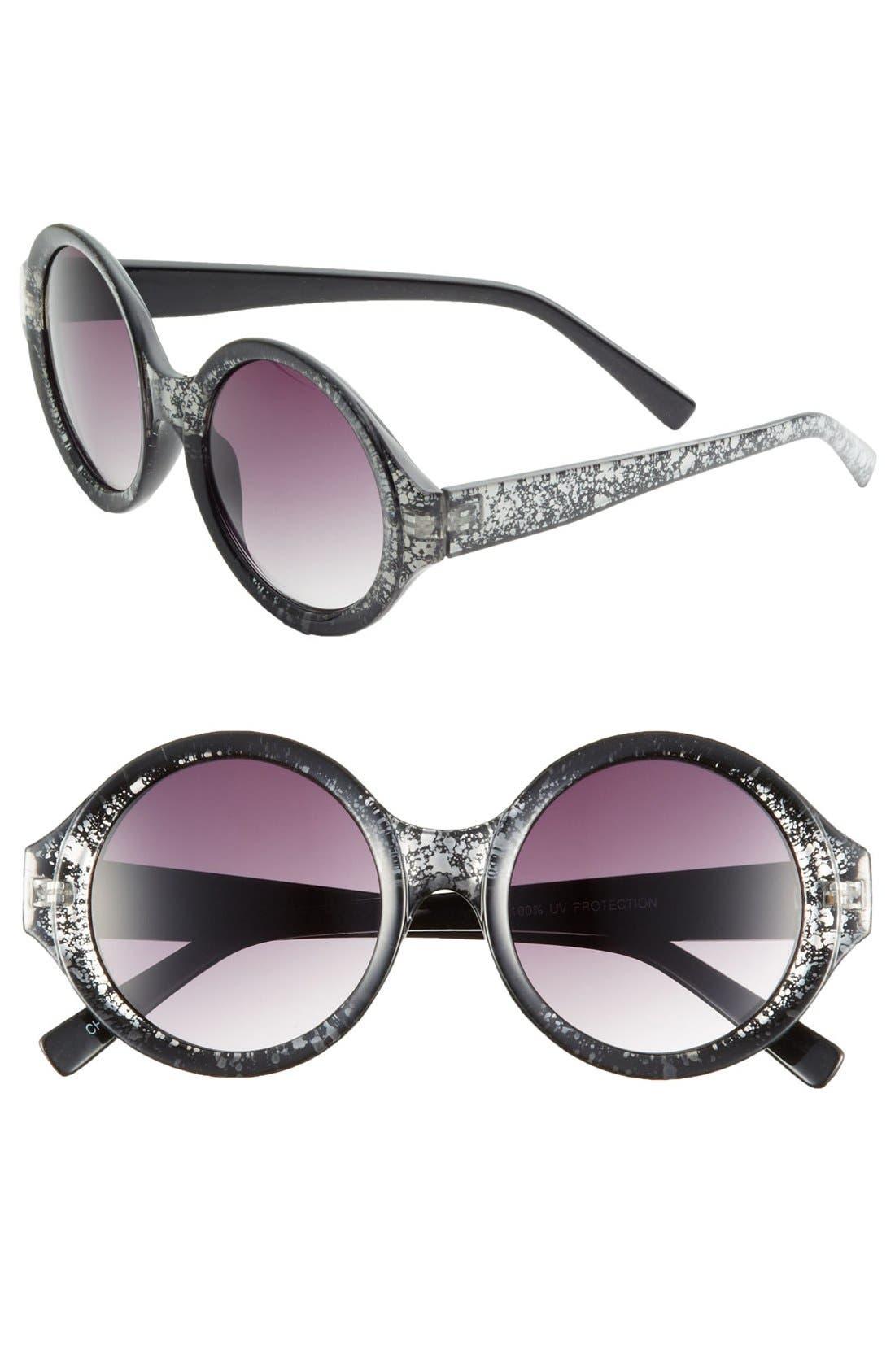 Alternate Image 1 Selected - FE NY 'Crackle' Circle Frame Sunglasses