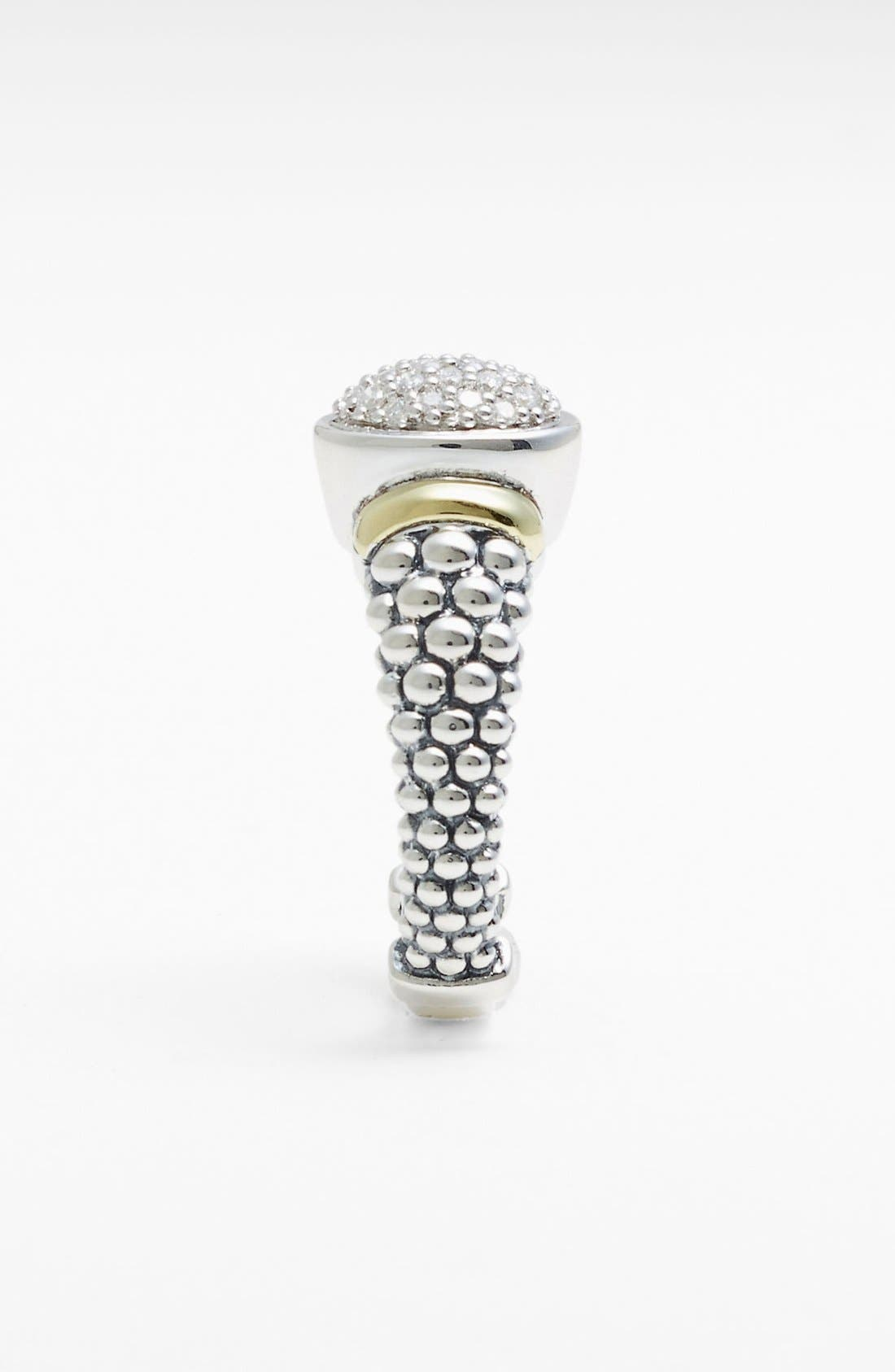 Alternate Image 2  - Lagos 'Twilight' Oval Diamond Ring (Online Only)