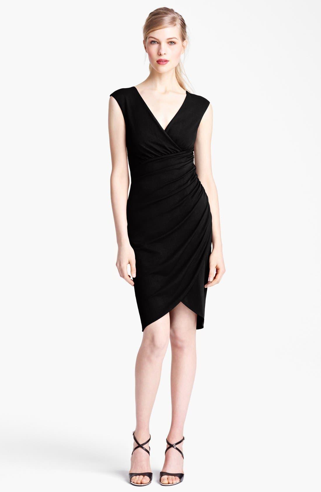 Alternate Image 1 Selected - Michael Kors Tulip Hem Wool Jersey Dress